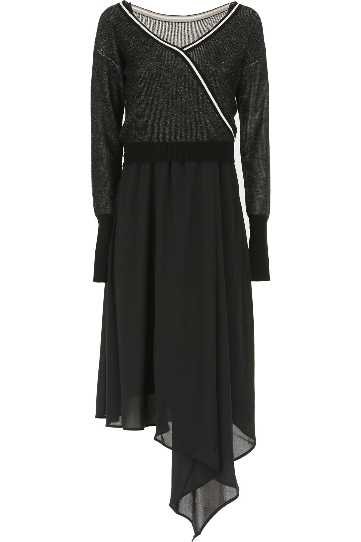Patrizia Pepe Dress for Women, Evening Cocktail Party On Sale, Street Black, Viscose, 2019, 0 (XS - 38/40) 1 (S - 40/42) 2 (M - 42/44)