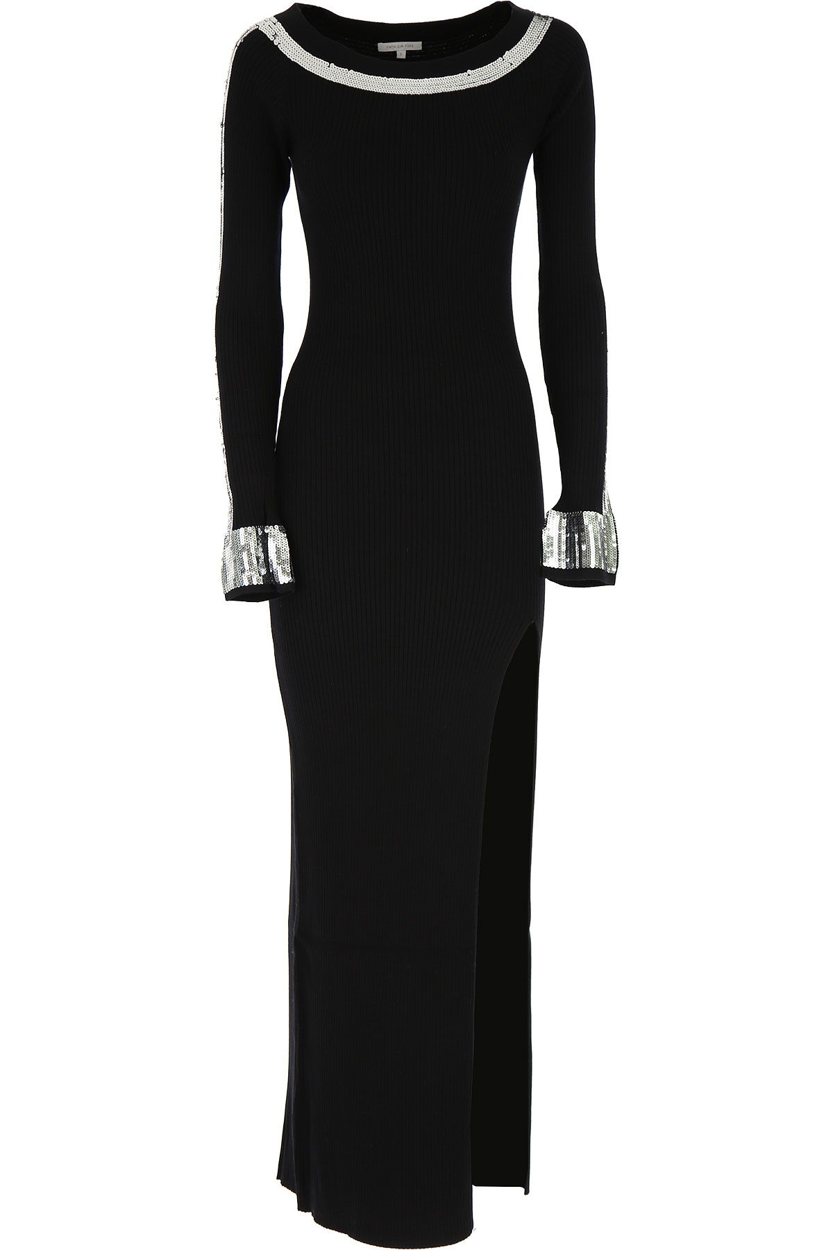 Patrizia Pepe Dress for Women, Evening Cocktail Party On Sale, Black, Viscose, 2019, 0 (XS - 38/40) 1 (S - 40/42)