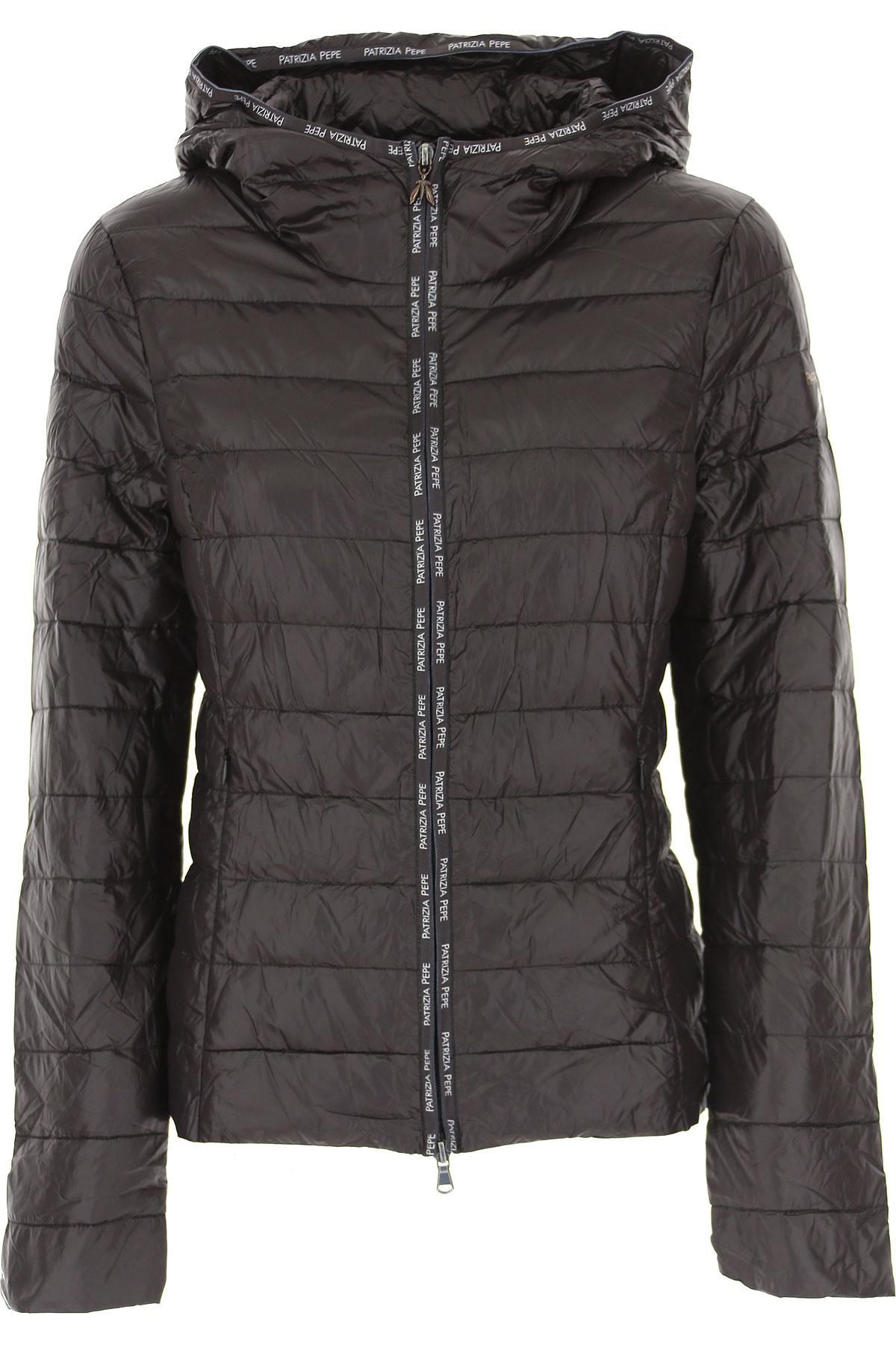 Patrizia Pepe Jacket for Women On Sale, Black, polyamide, 2019, 4 6 8