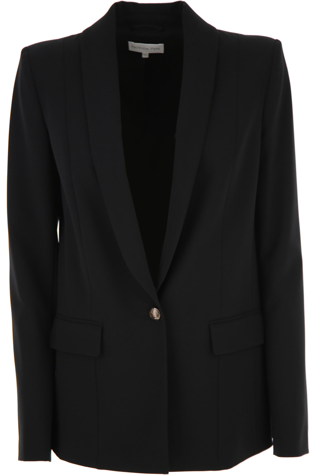 Patrizia Pepe Jacket for Women On Sale, Black, polyester, 2019, 4 6