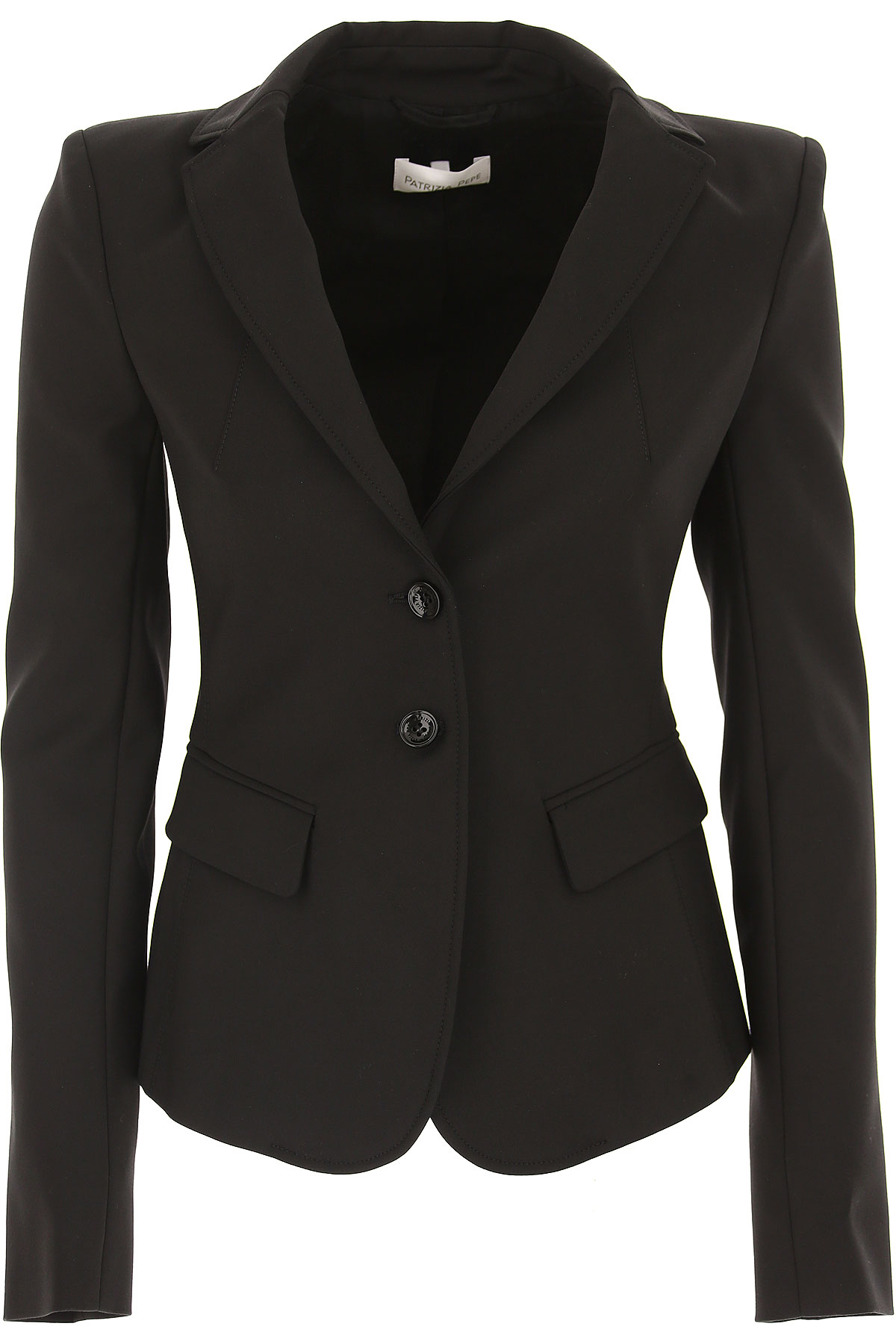 Image of Patrizia Pepe Blazer for Women, Black, Cotton, 2017, 10 4 6 8