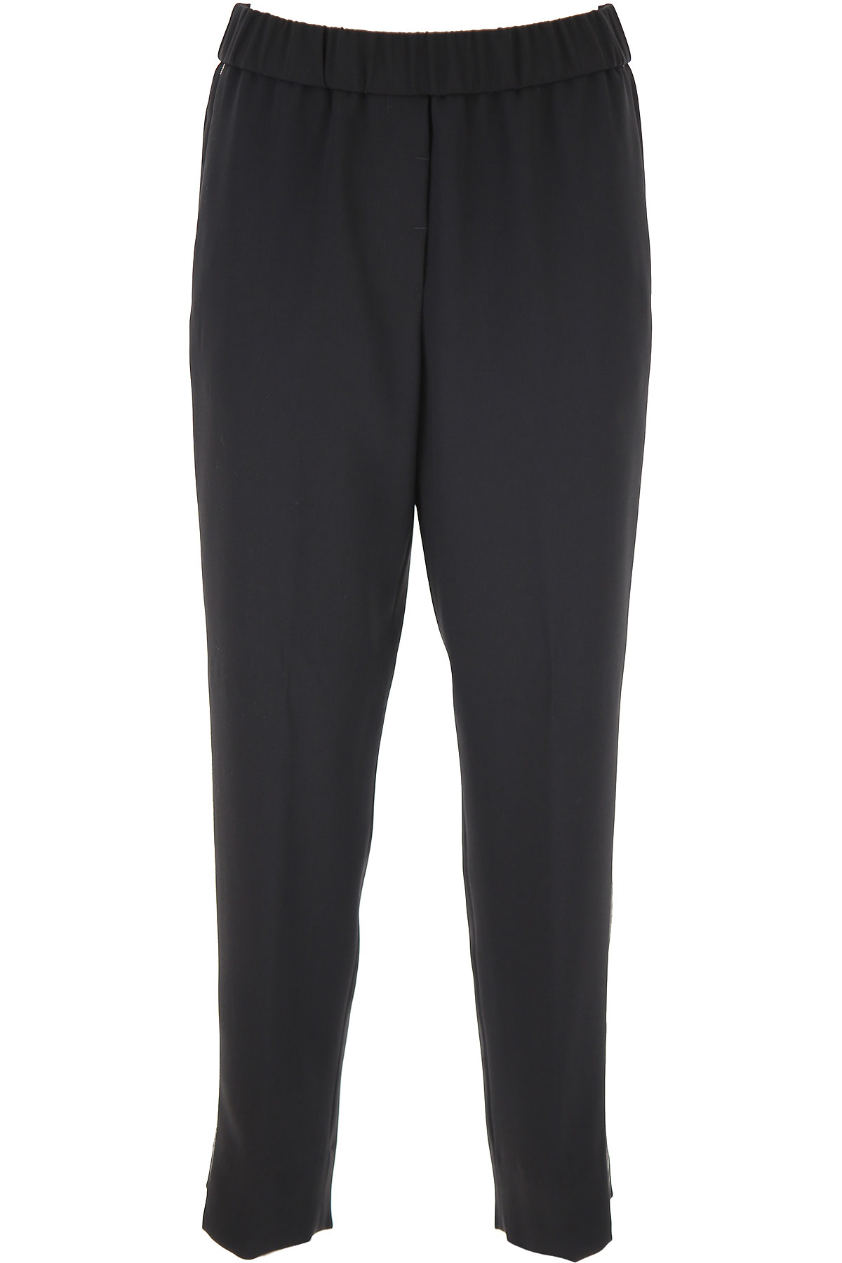 Peserico Pants for Women On Sale, Black, polyester, 2019, 26 28