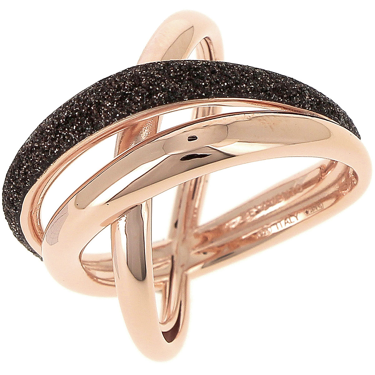 Pesavento Ring for Women, Gold Pink, Silver 925, 2019