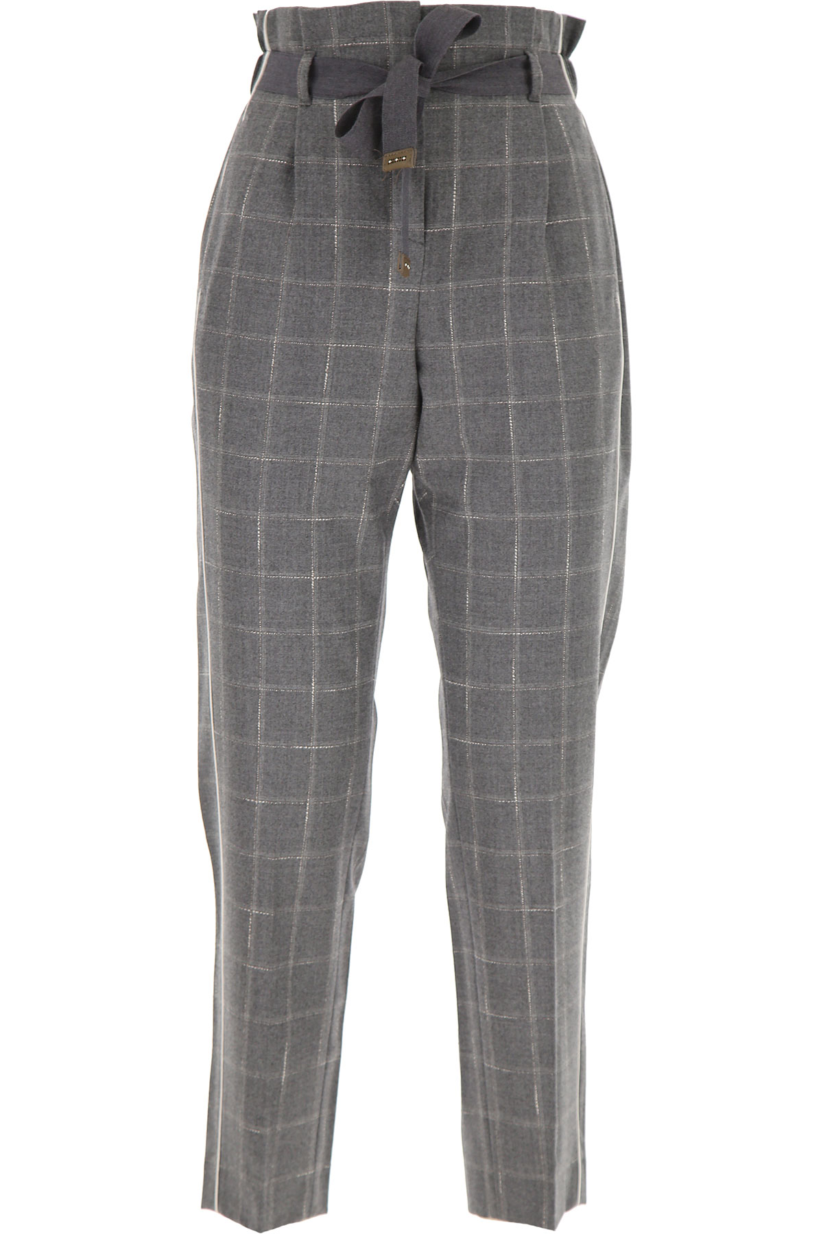 Peserico Pants for Women On Sale, Grey, Wool, 2019, 26 30 32