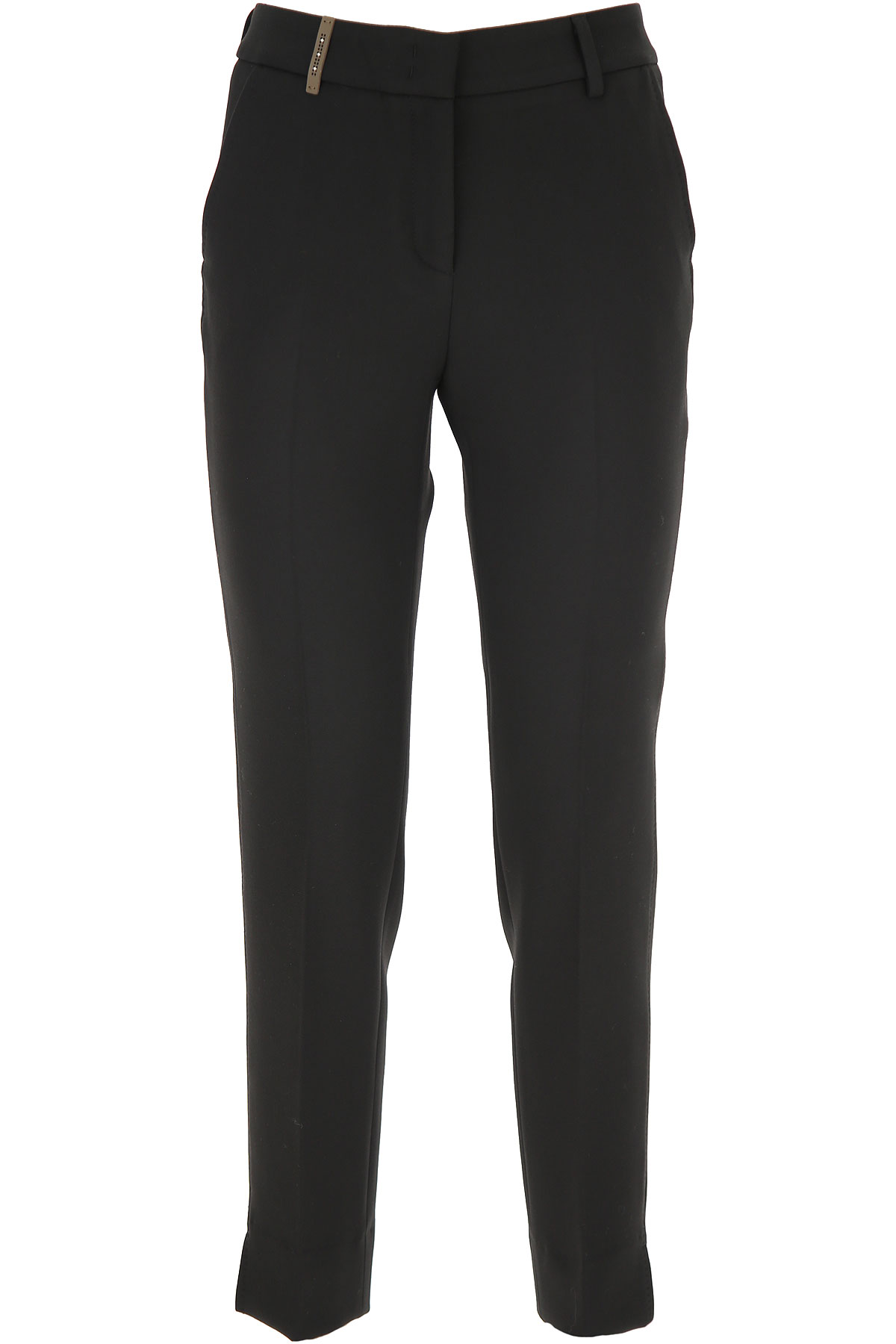 Peserico Pants for Women On Sale, Black, polyester, 2019, 26 30