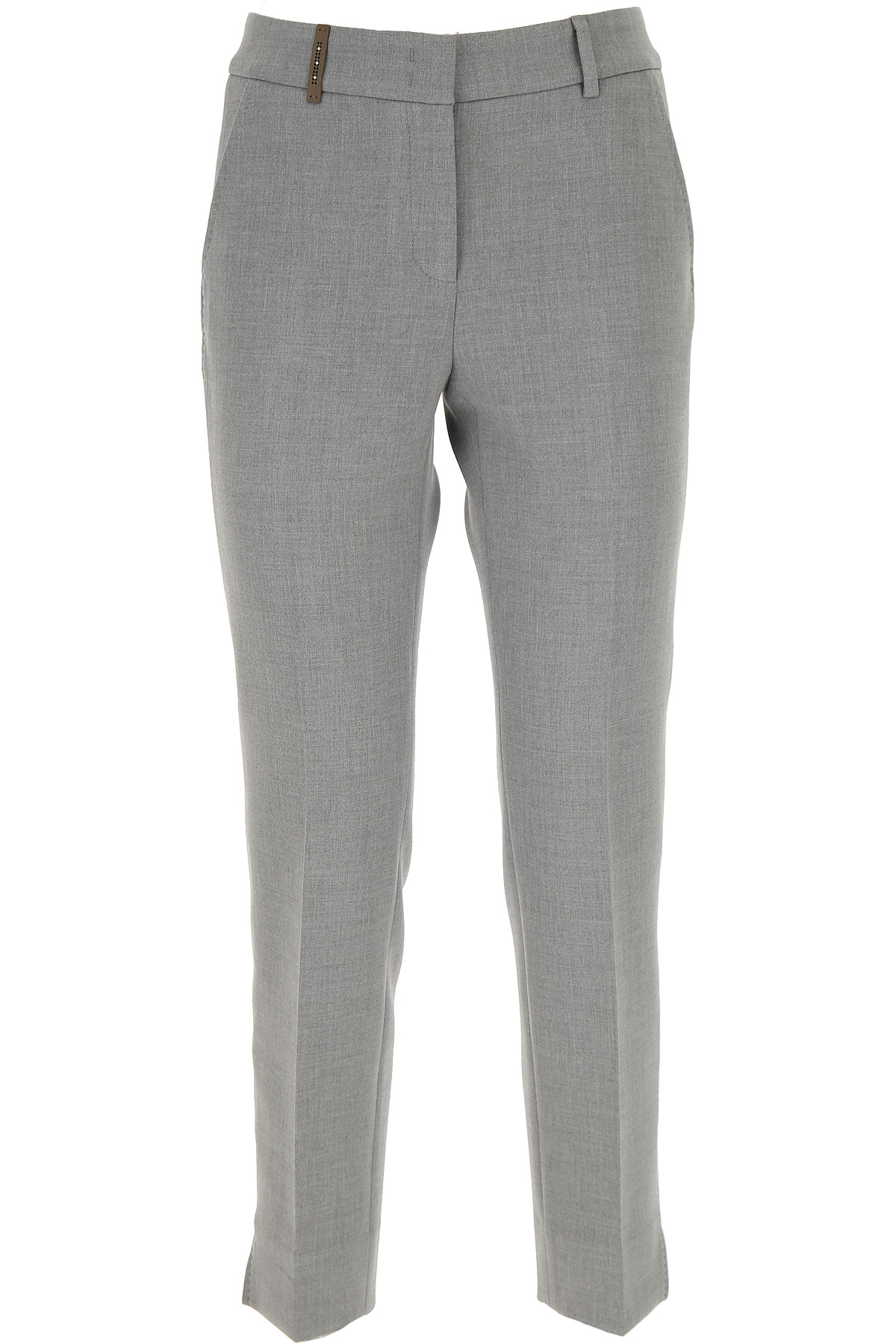 Peserico Pants for Women On Sale, Light Grey, polyester, 2019, 26 28 30 32