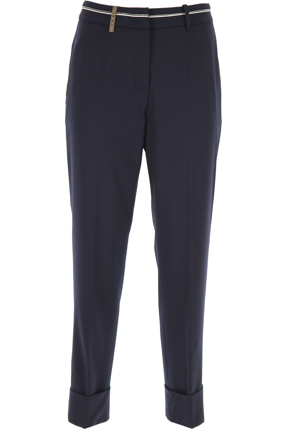 Peserico Pants for Women On Sale, Navy Blue, Wool, 2019, 26 32 34 4