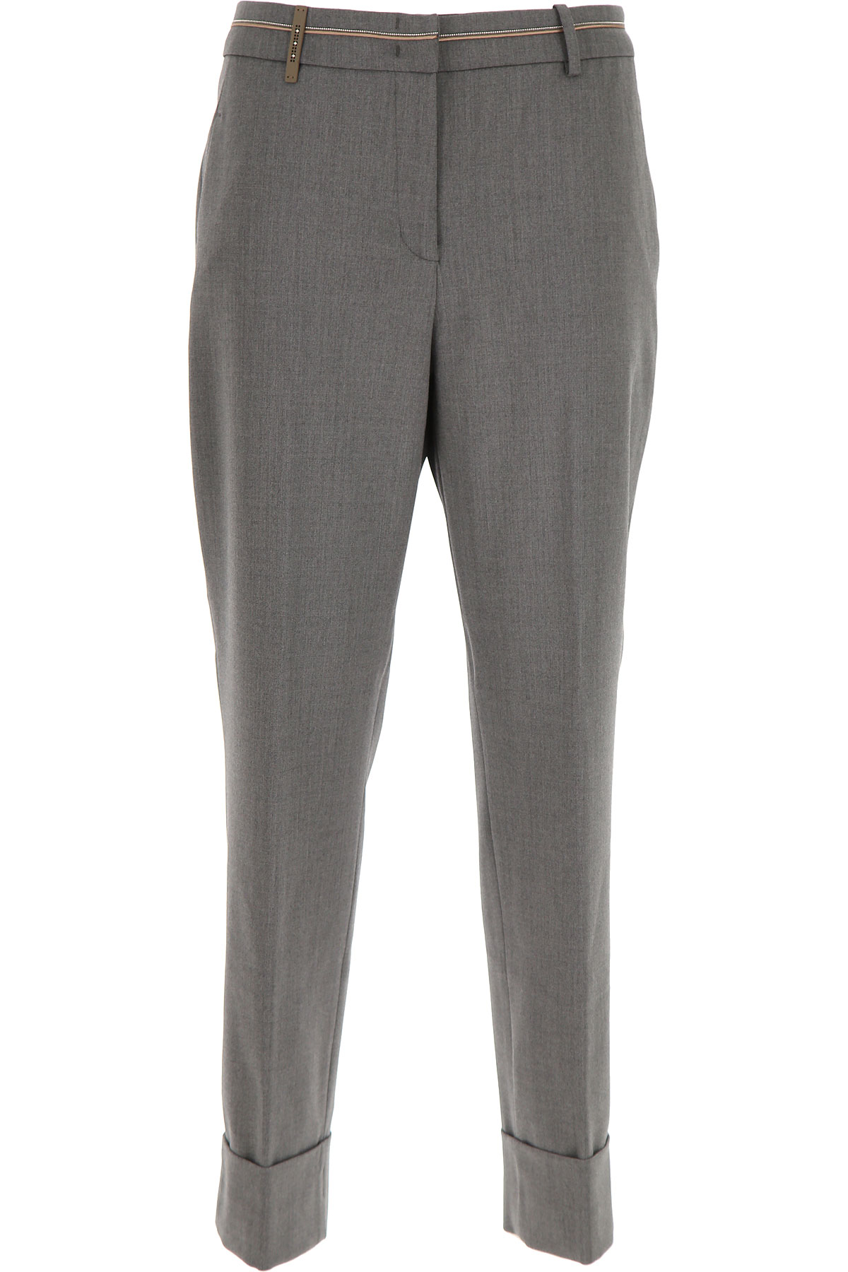 Peserico Pants for Women On Sale, Grey, Wool, 2019, 26 30 34 4