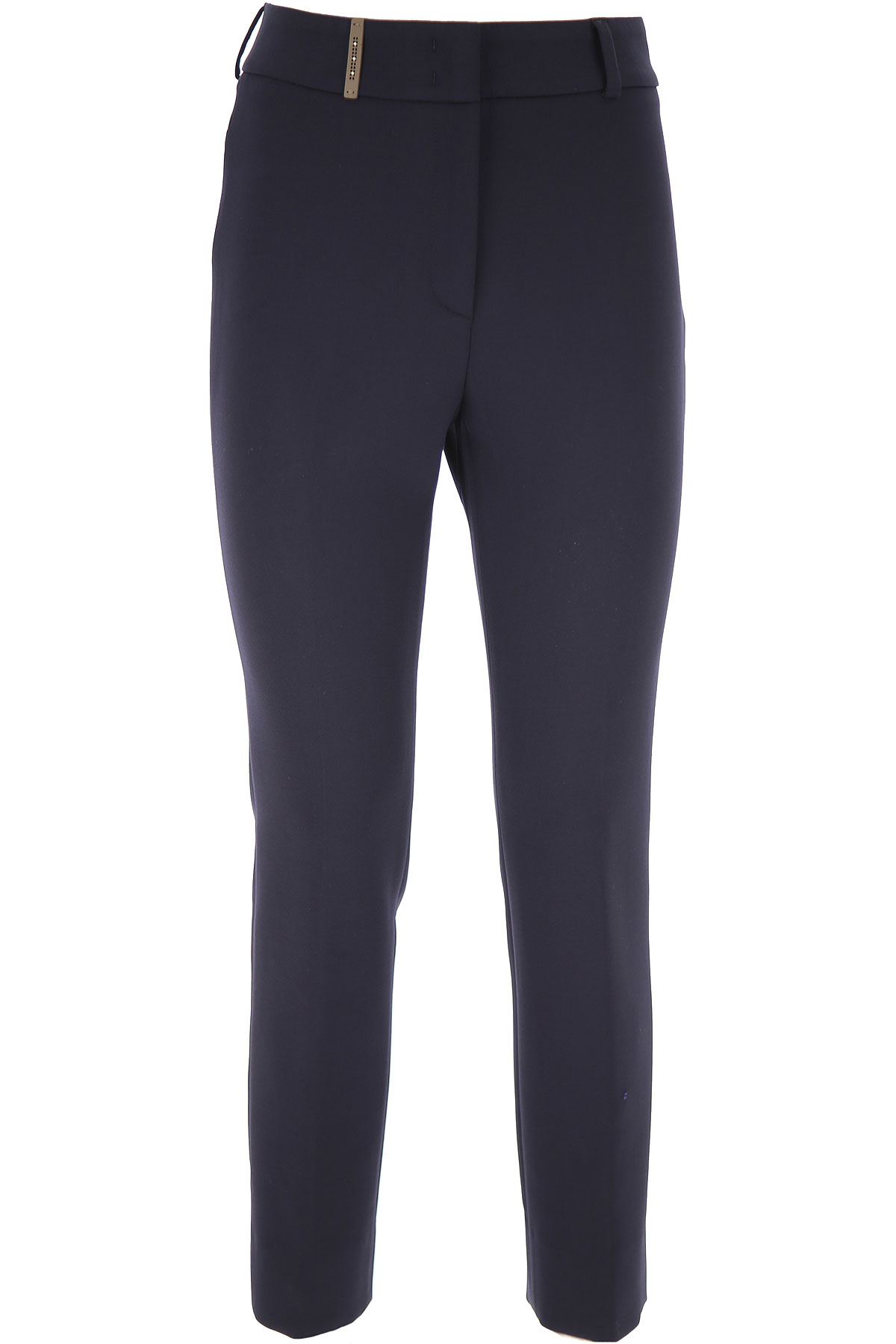 Peserico Pants for Women On Sale, Blue Ink, polyester, 2019, 26 34 4