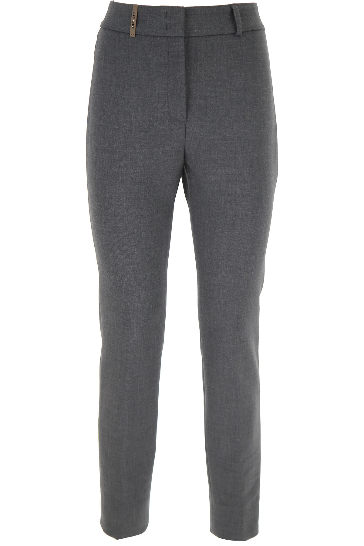 Peserico Pants for Women On Sale, Medium Grey, polyester, 2019, 26 28 30 32 34 4