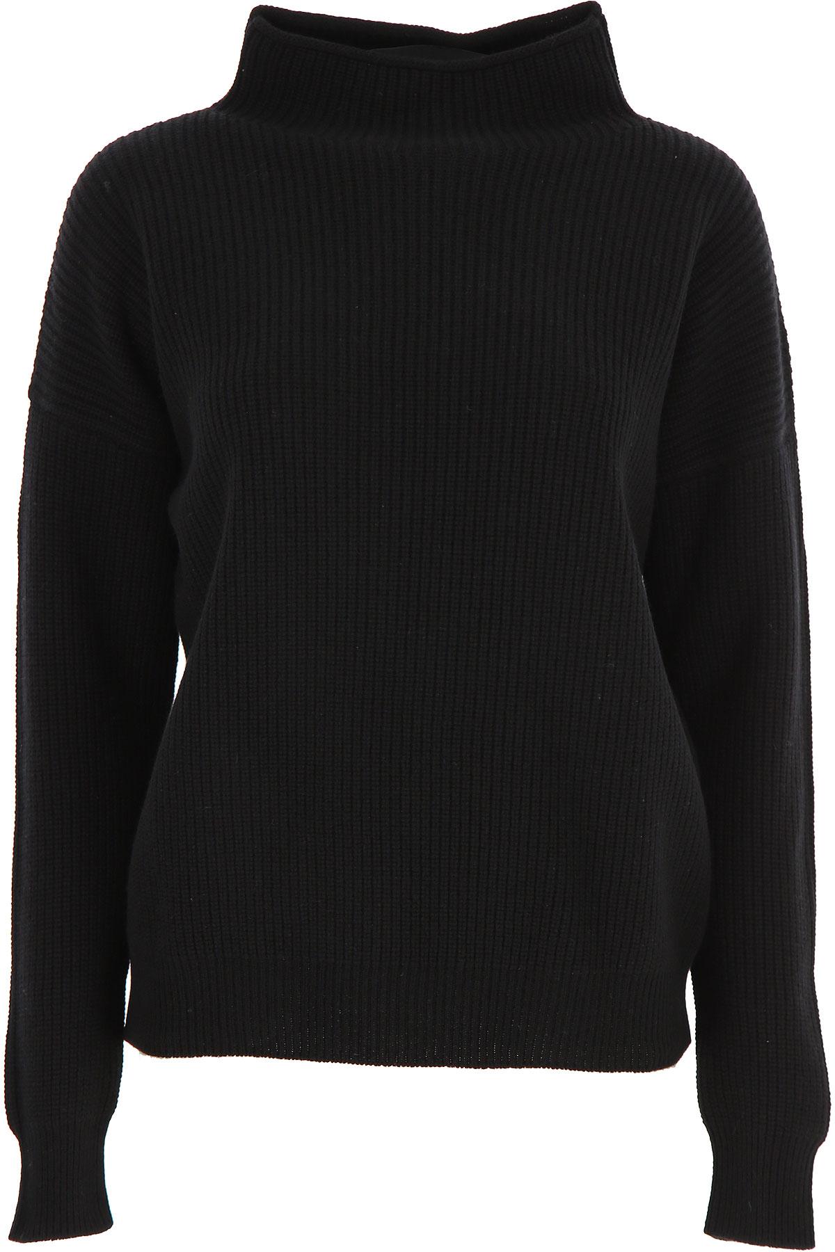 Peserico Sweater for Women Jumper On Sale, Black, Wool, 2019, 10 2 4 6
