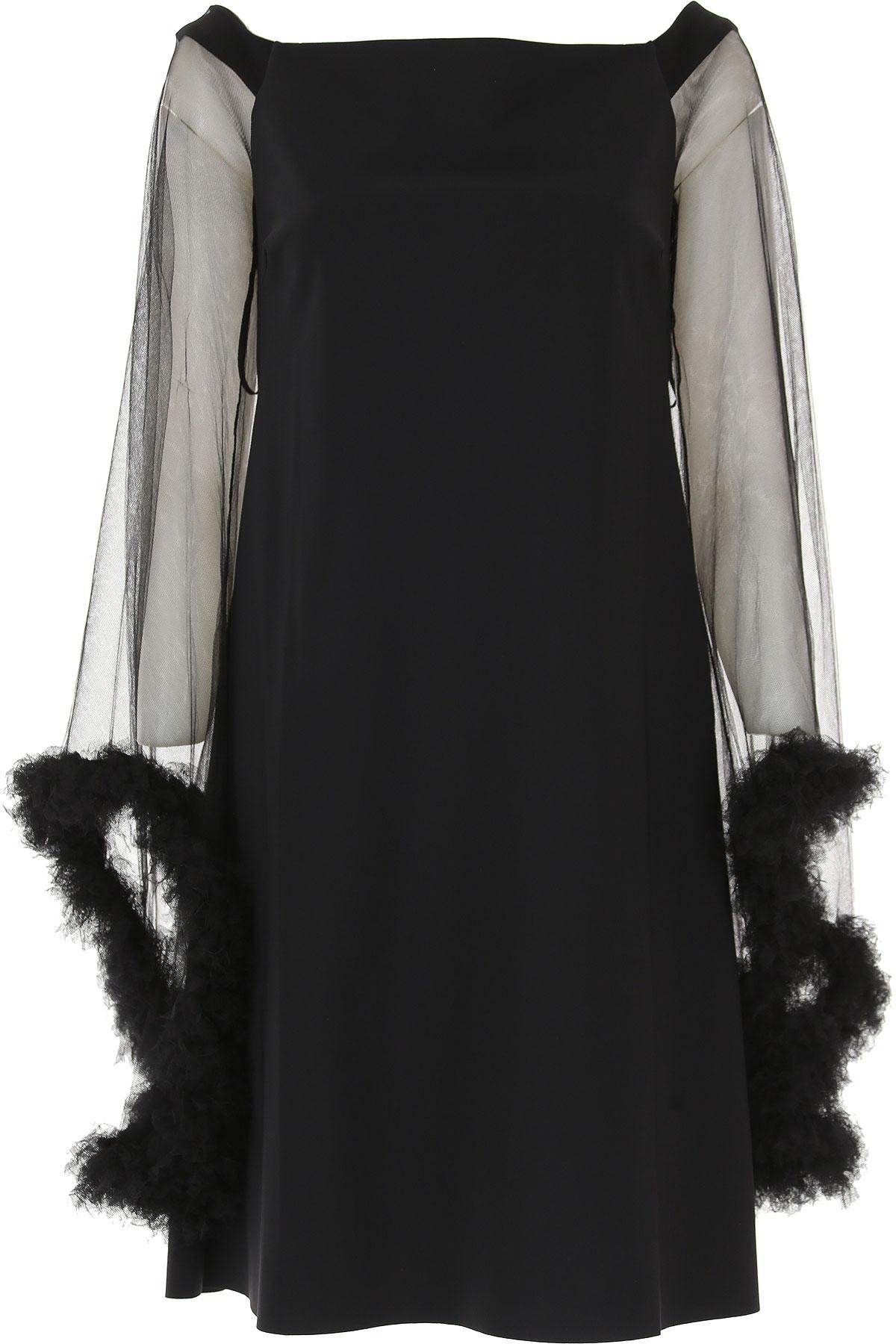 La Petite Robe Di Chiara Boni Robe Femme Pas cher en Soldes, Noir, Polyamide, 2017, 42 44