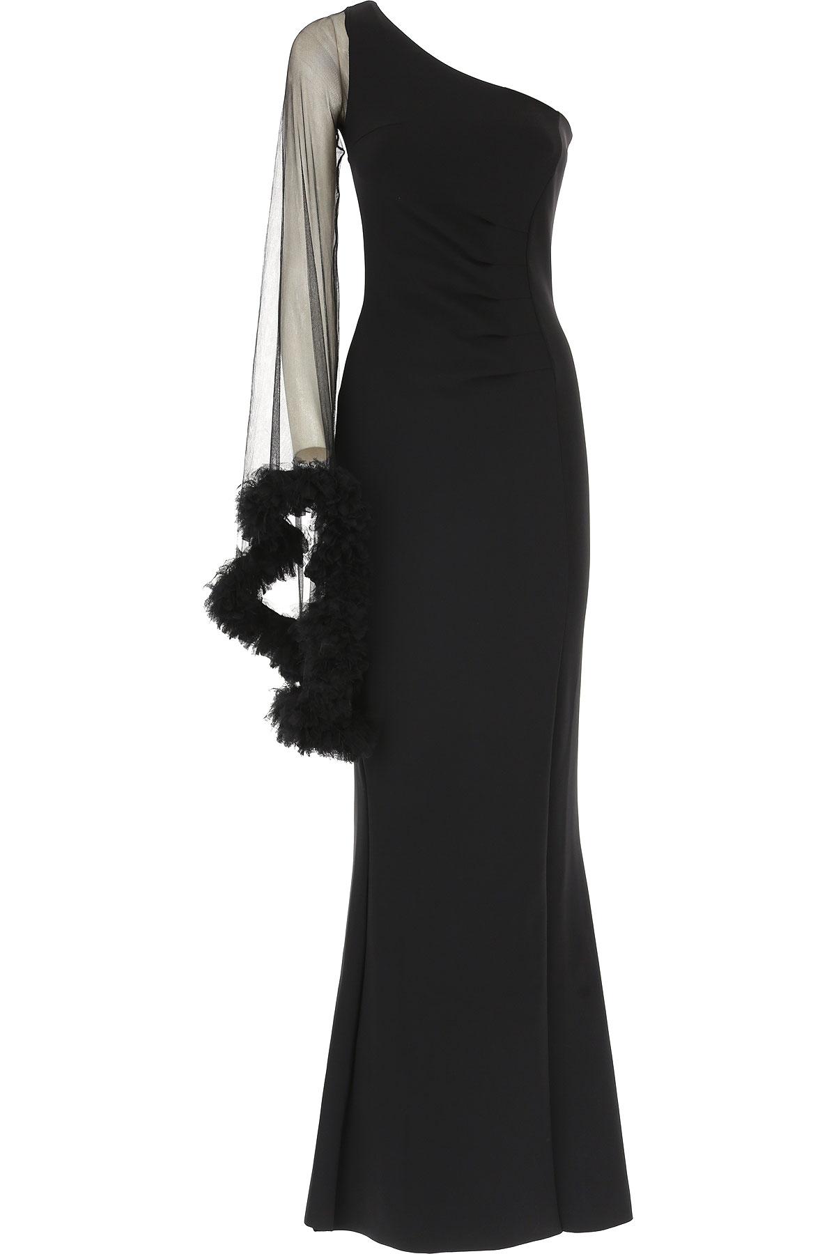 Image of Le Petite Robe Di Chiara Boni Dress for Women, Evening Cocktail Party, Black, polyamide, 2017, 4 6 8