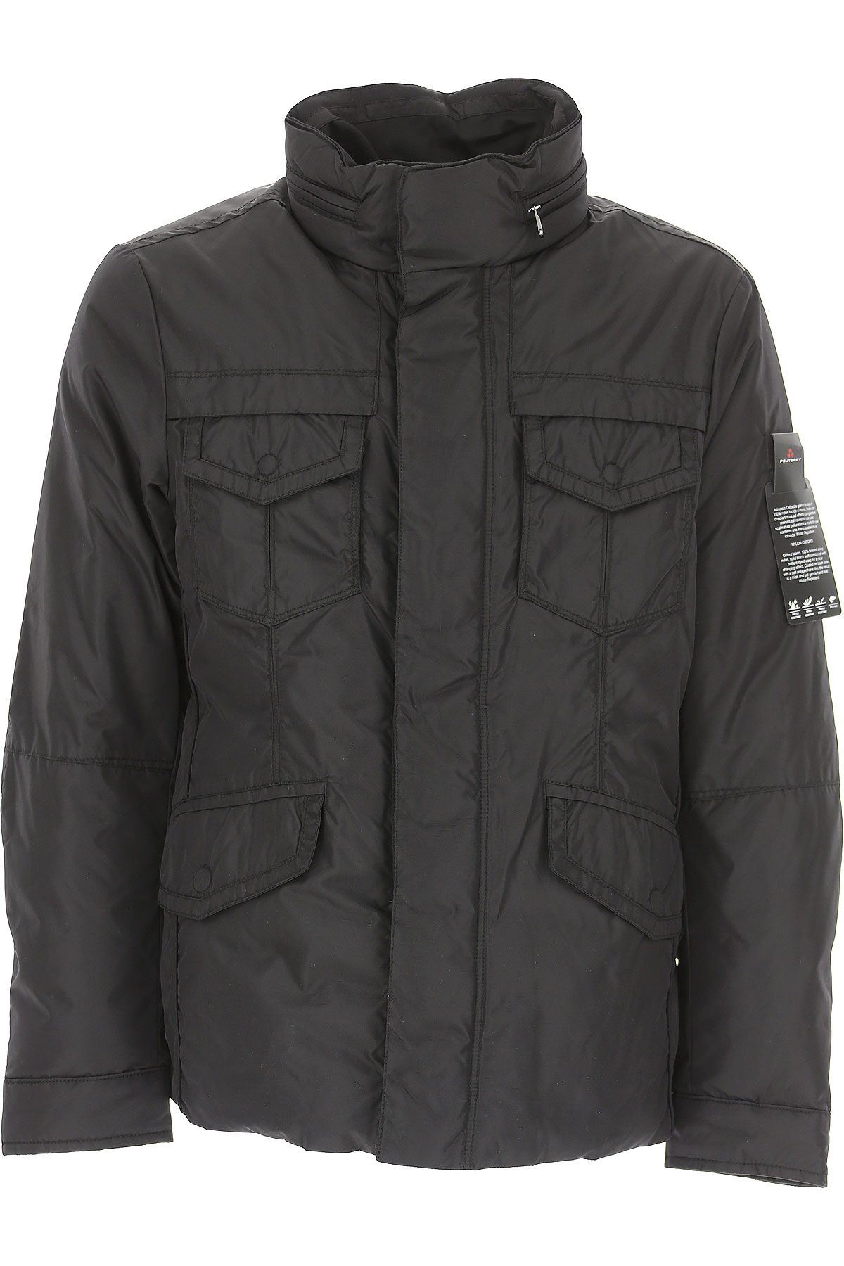 Image of Peuterey Down Jacket for Men, Puffer Ski Jacket, Black, polyamide, 2017, L M S XL