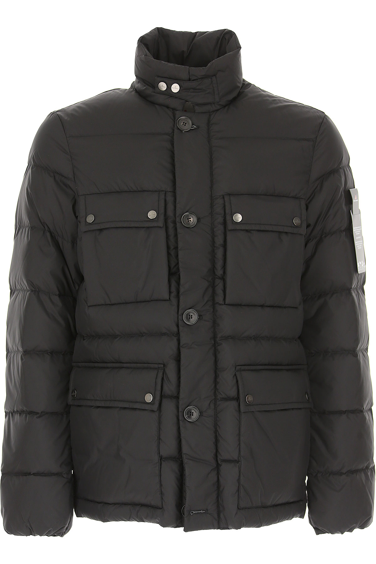Image of Peuterey Down Jacket for Men, Puffer Ski Jacket, Black, polyamide, 2017, L M