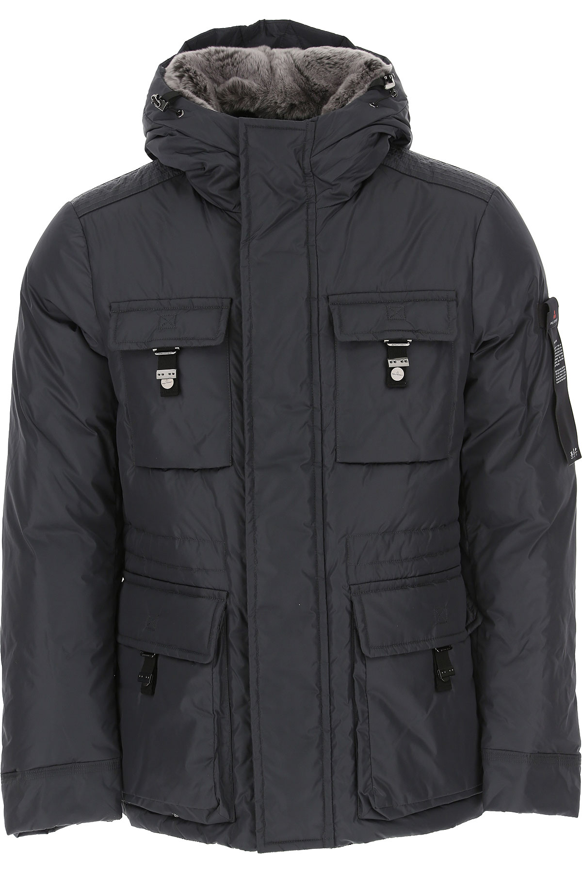 Peuterey Down Jacket for Men, Puffer Ski Jacket On Sale, Metallic Grey, polyamide, 2019, M XL