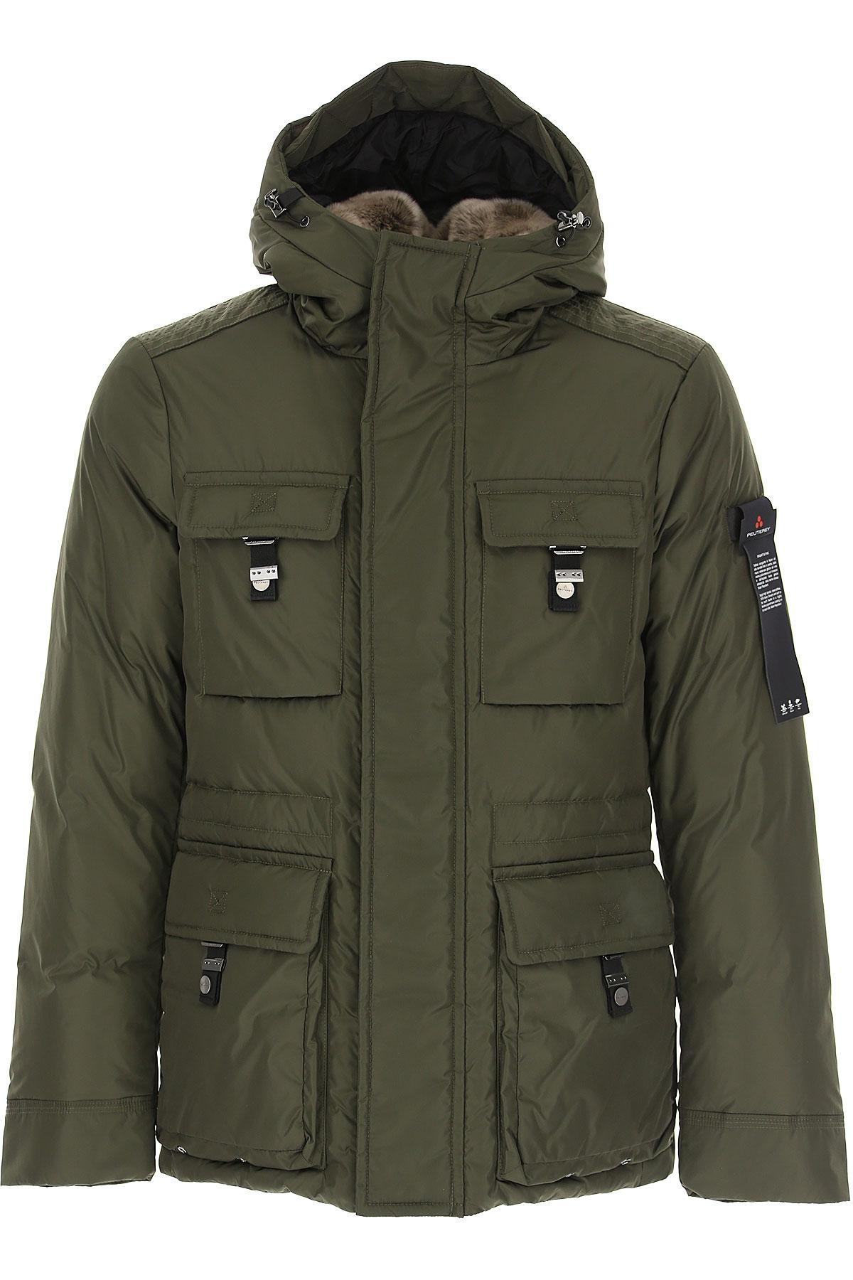 Peuterey Down Jacket for Men, Puffer Ski Jacket On Sale, Dark Military Green, Down, 2019, L XL