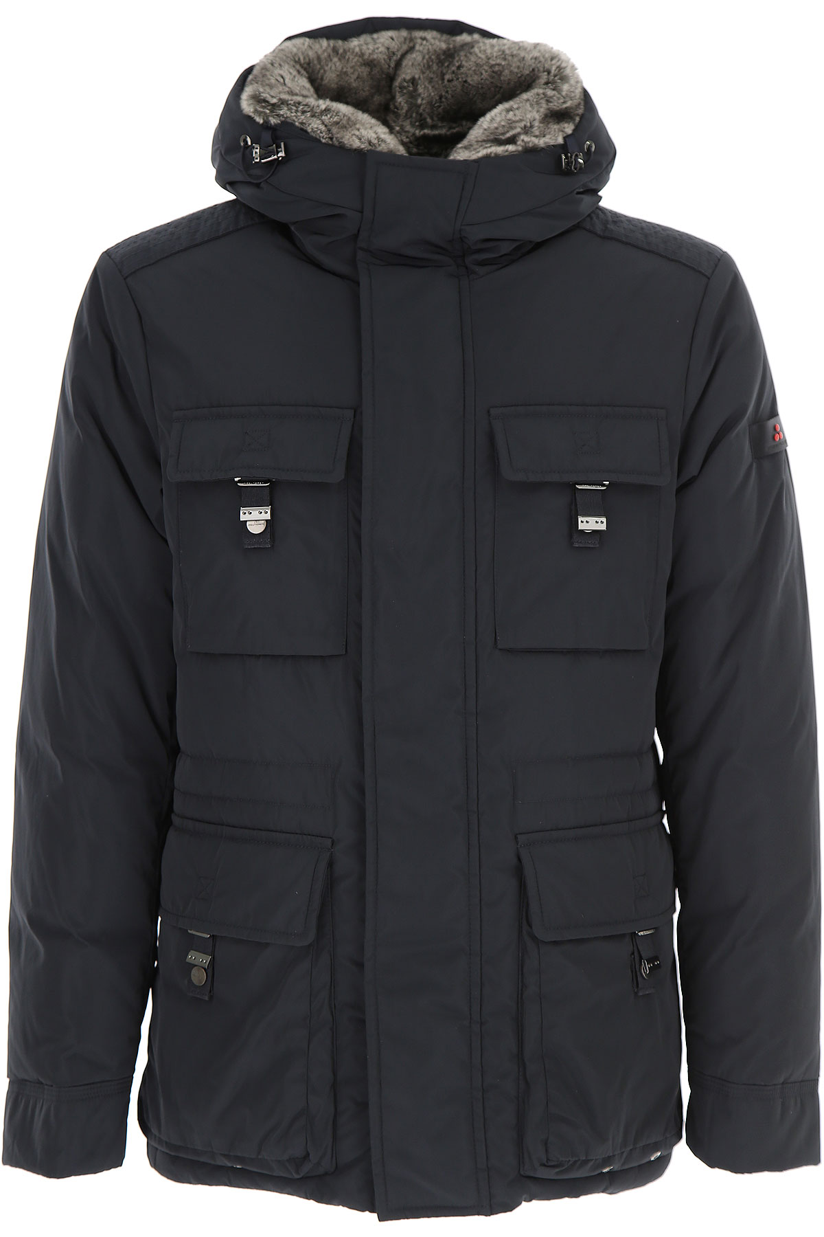 Peuterey Down Jacket for Men, Puffer Ski Jacket, Navy Blue, Down, 2019, L M S XL XXL