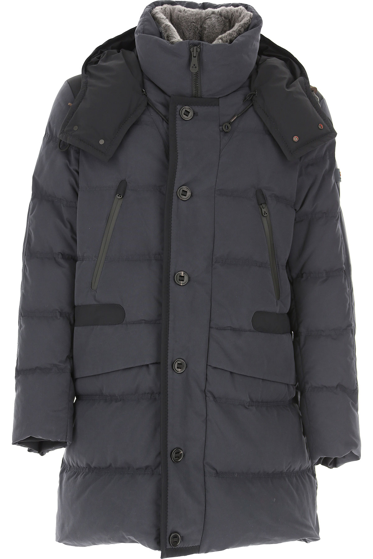 Peuterey Down Jacket for Men, Puffer Ski Jacket On Sale, Dark Navy Blue, Down, 2019, L S