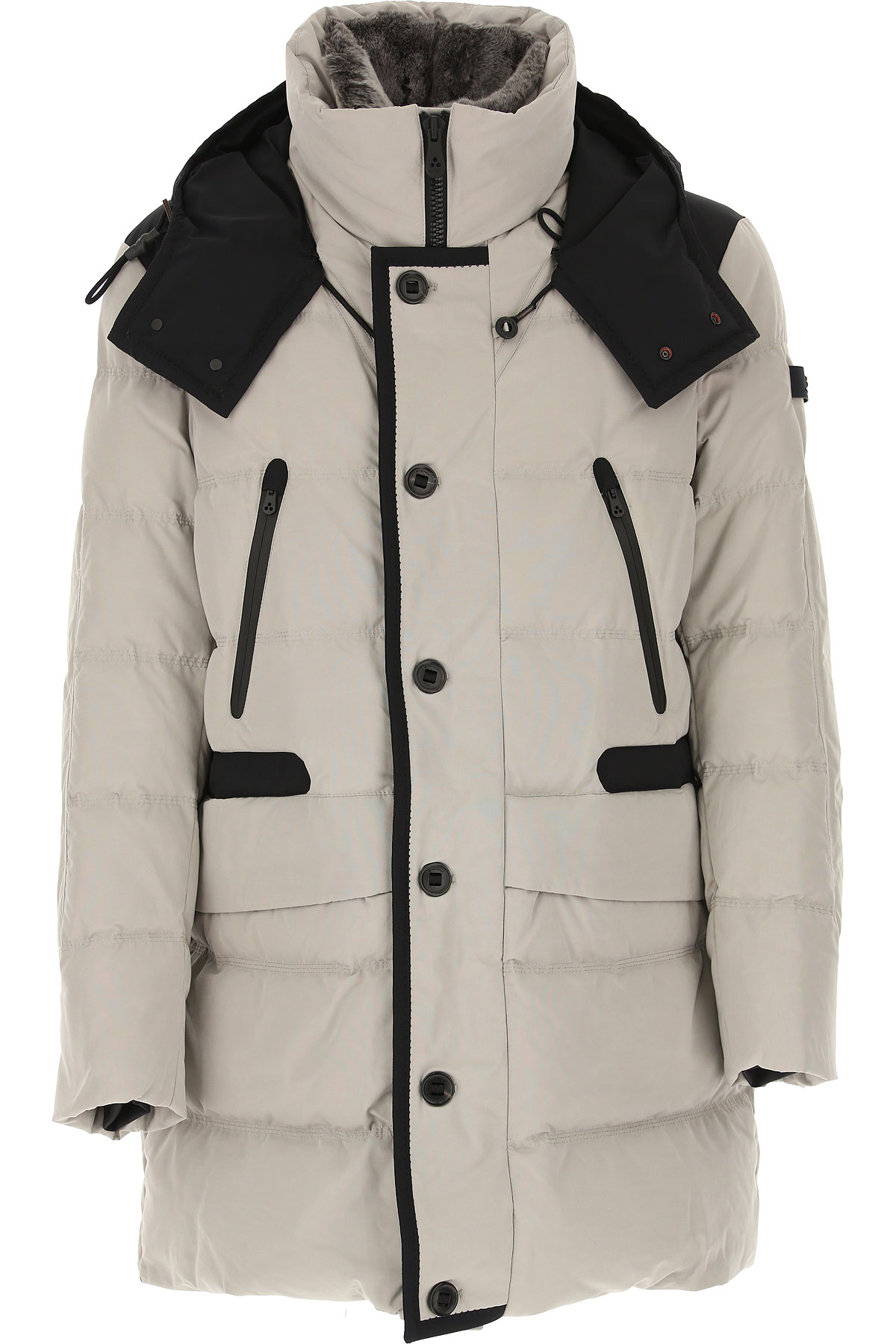 Peuterey Down Jacket for Men, Puffer Ski Jacket On Sale, Light Turtledove Grey, Down, 2019, M S