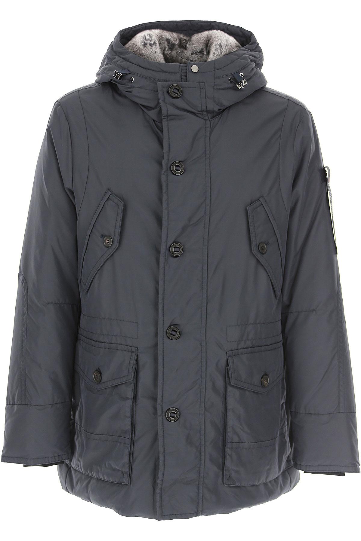 Peuterey Down Jacket for Men, Puffer Ski Jacket On Sale, Navy Blue, Down, 2019, L M XL XXL