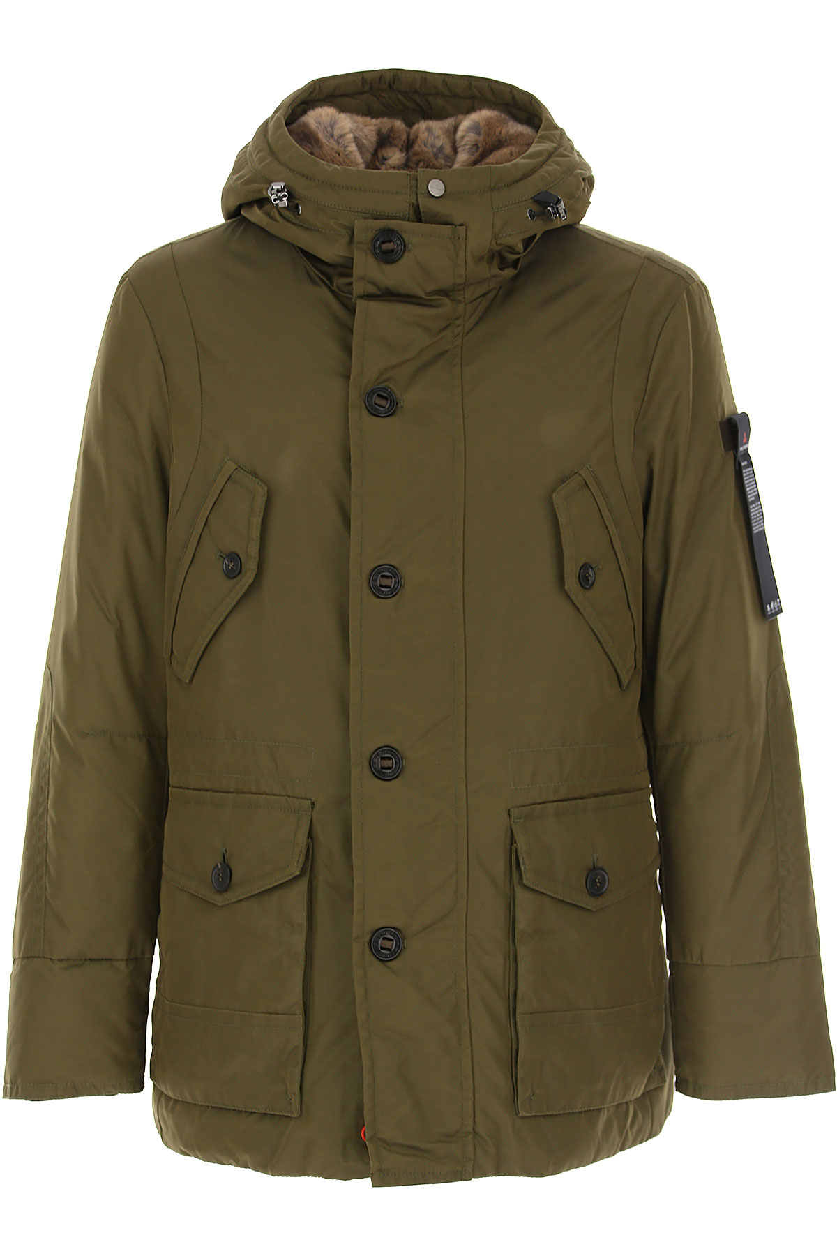 Peuterey Down Jacket for Men, Puffer Ski Jacket On Sale, Military Green, Down, 2019, L M XL XXL