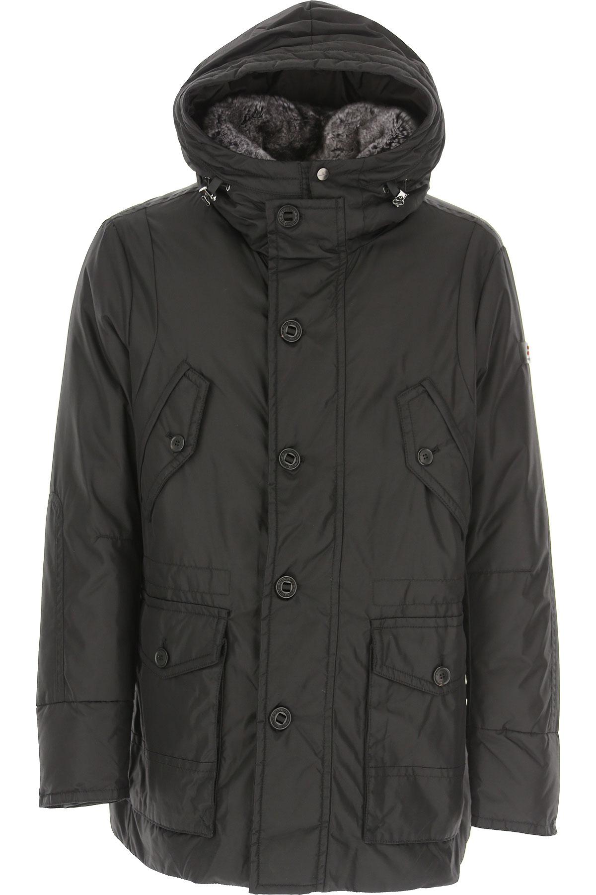 Peuterey Down Jacket for Men, Puffer Ski Jacket On Sale, Black, Down, 2019, S XL