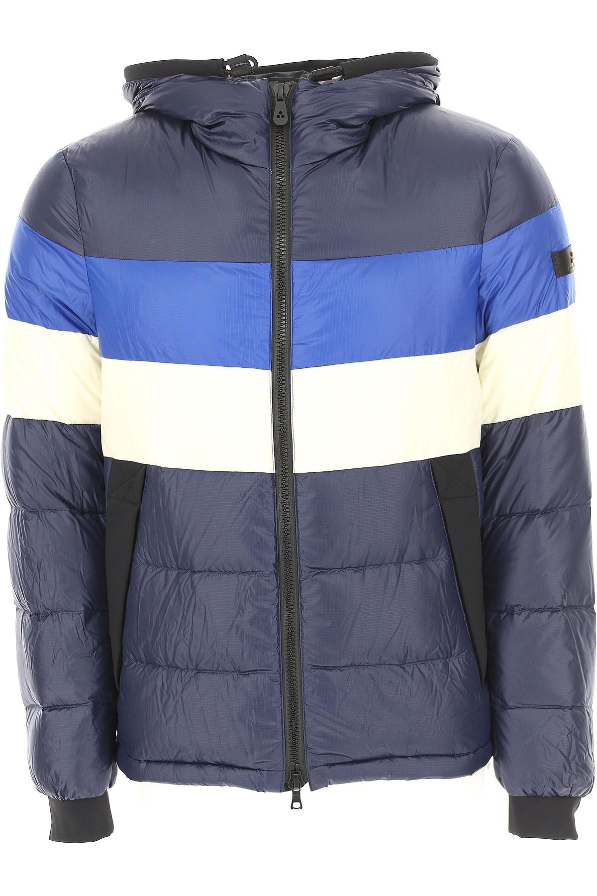 Image of Peuterey Down Jacket for Men, Puffer Ski Jacket, Dark Avio Blue Melange, Down, 2017, L M S XL