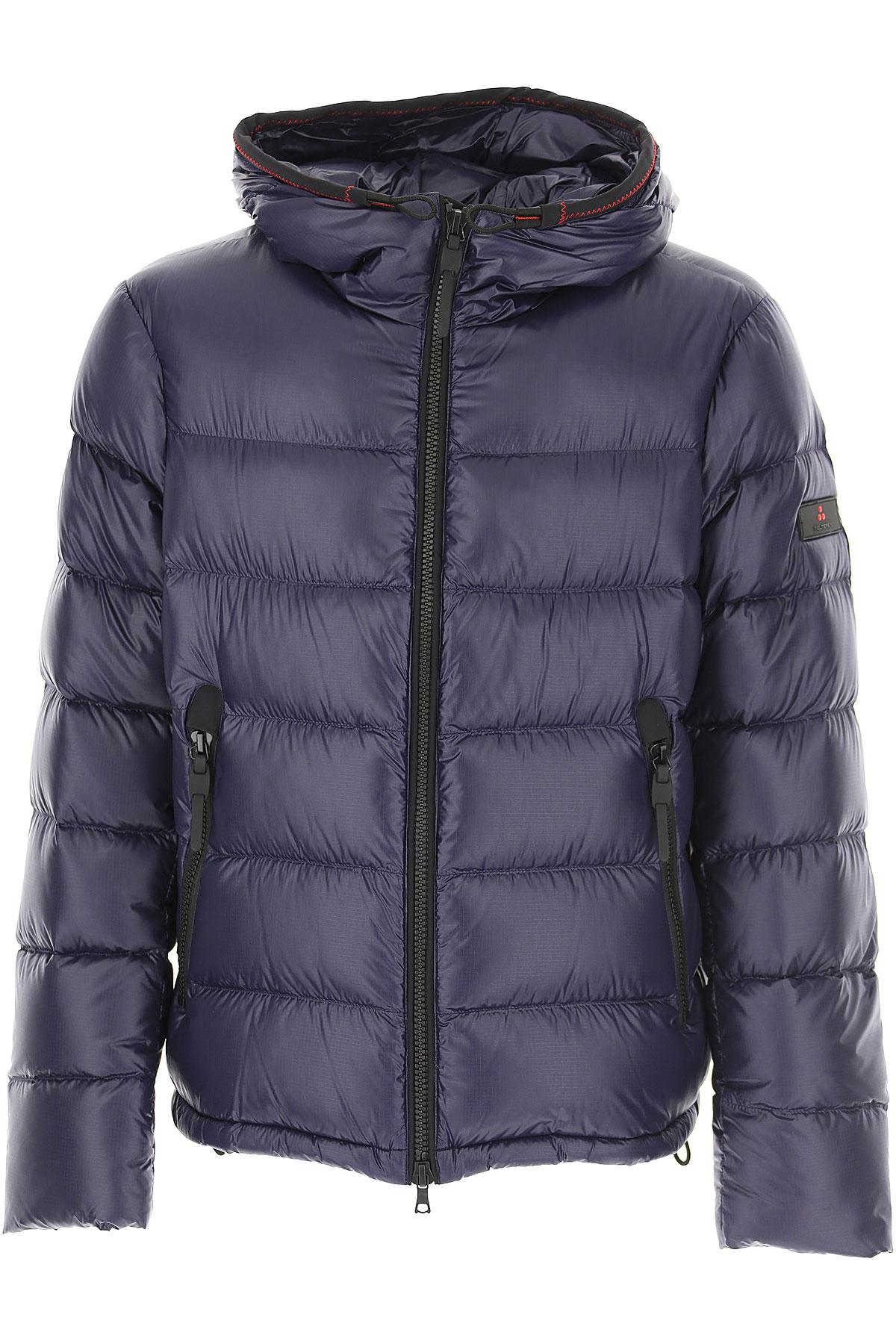Peuterey Down Jacket for Men, Puffer Ski Jacket On Sale, Dark Blue, Down, 2019, L M
