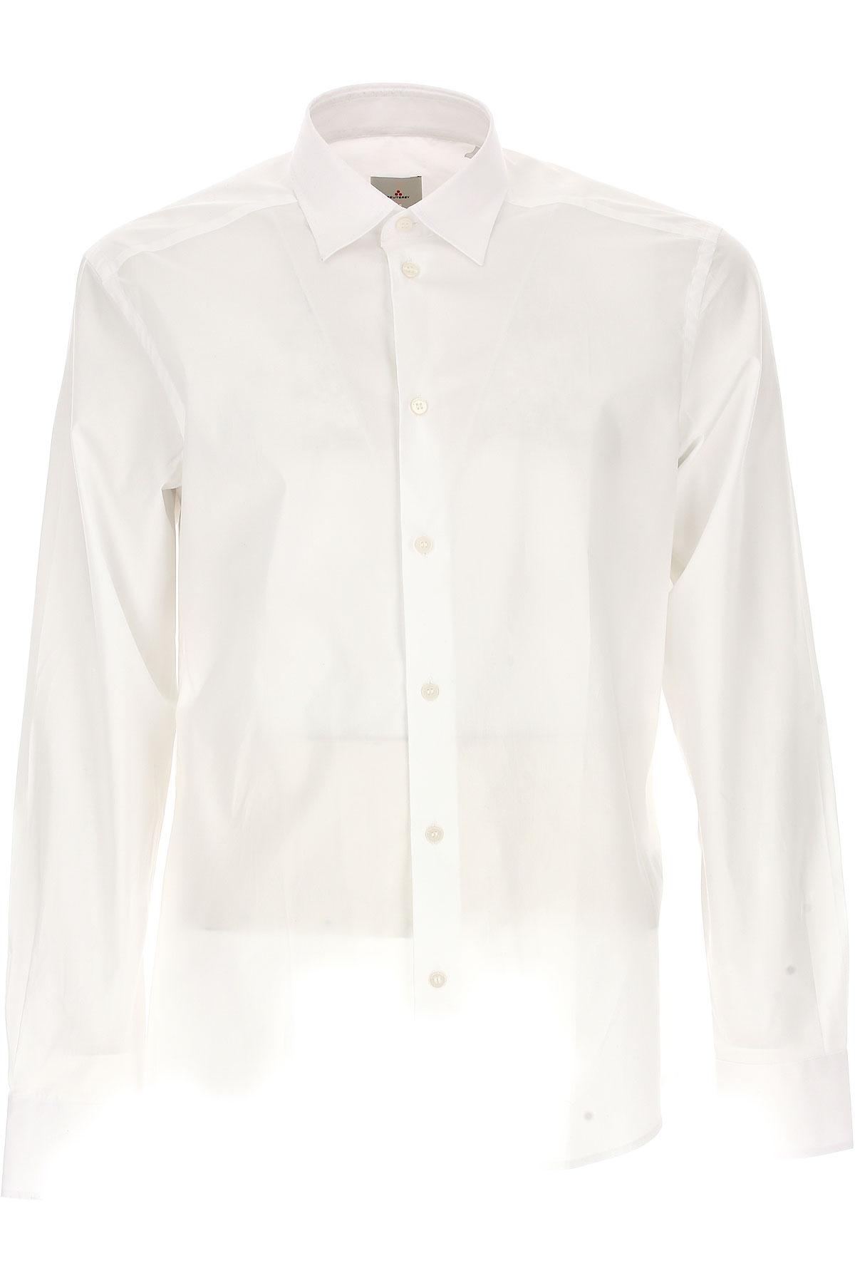 Peuterey Chemise Homme, Blanc, Coton, 2017, L M S XL