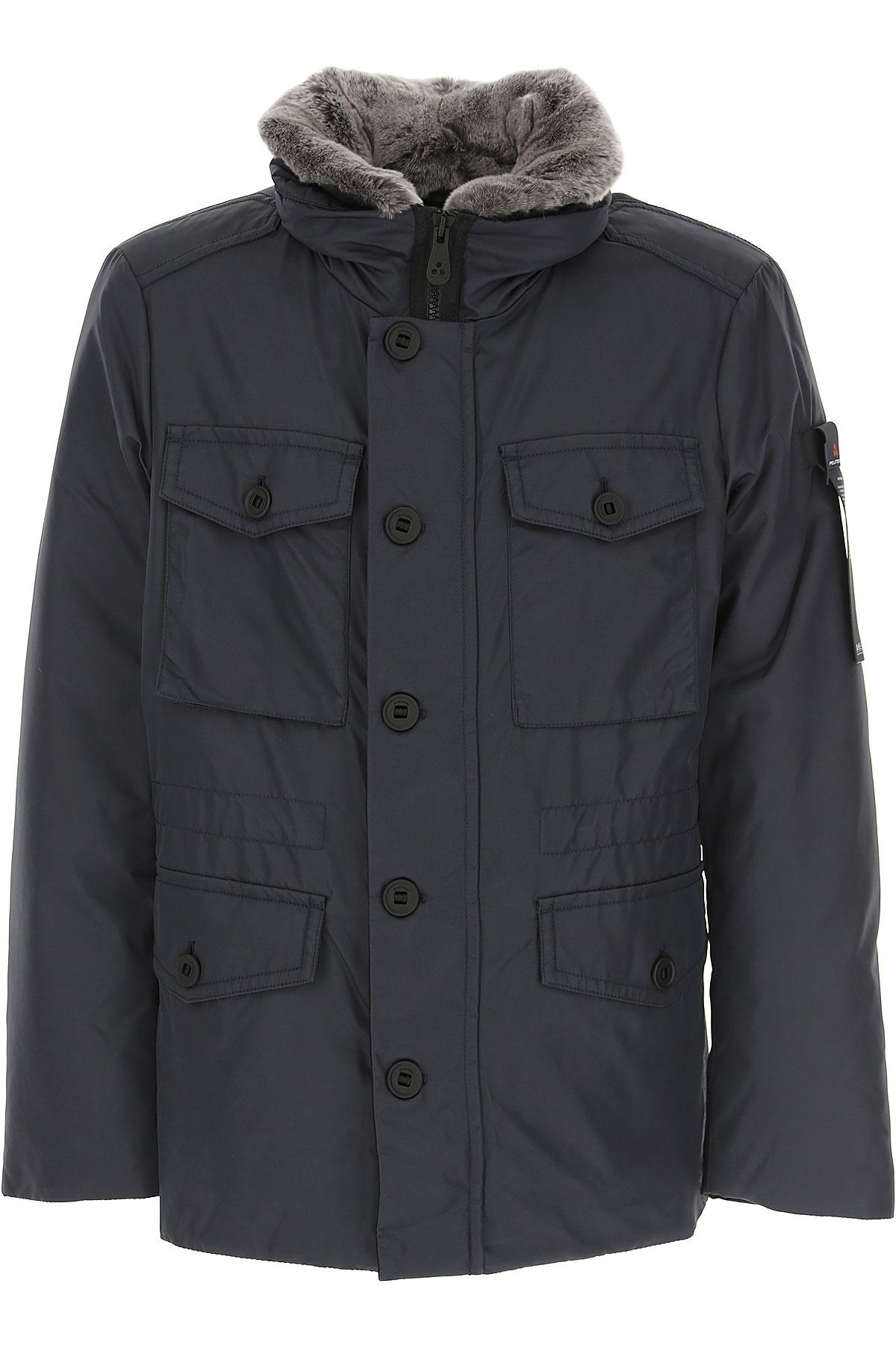 Peuterey Down Jacket for Men, Puffer Ski Jacket On Sale, Midnight Blue, Down, 2019, L M XL XXL