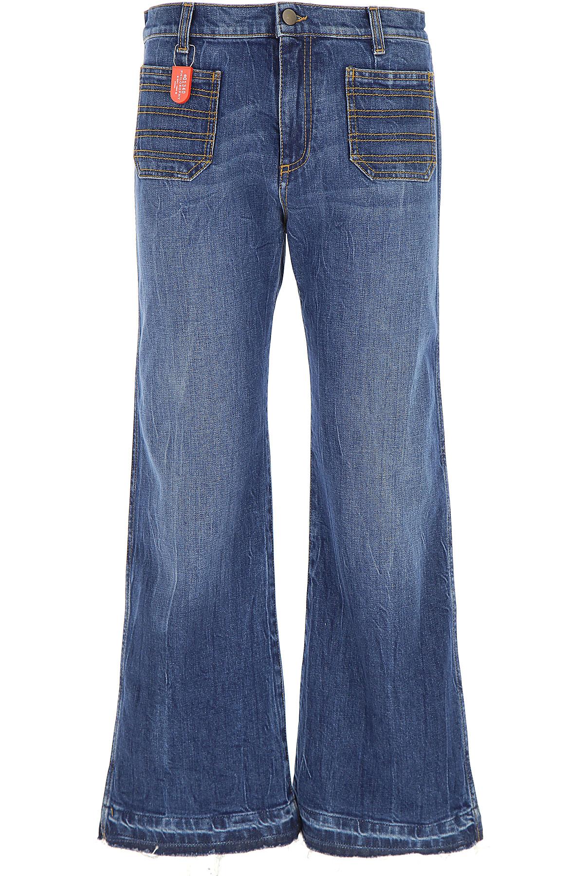 Philosophy di Lorenzo Serafini Jeans On Sale, Denim Blue, Cotton, 2019, US 27 - EU 40 US 29 - EU 42 US 31 - EU 44 US 25 - EU 38