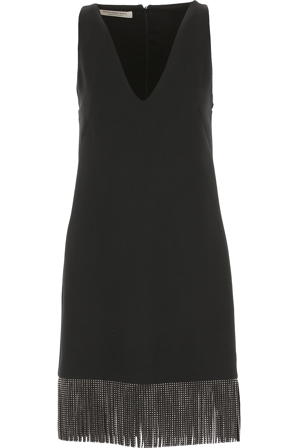 Philosophy di Lorenzo Serafini Dress for Women, Evening Cocktail Party On Sale, Black, polyester, 2019, 2 4 6