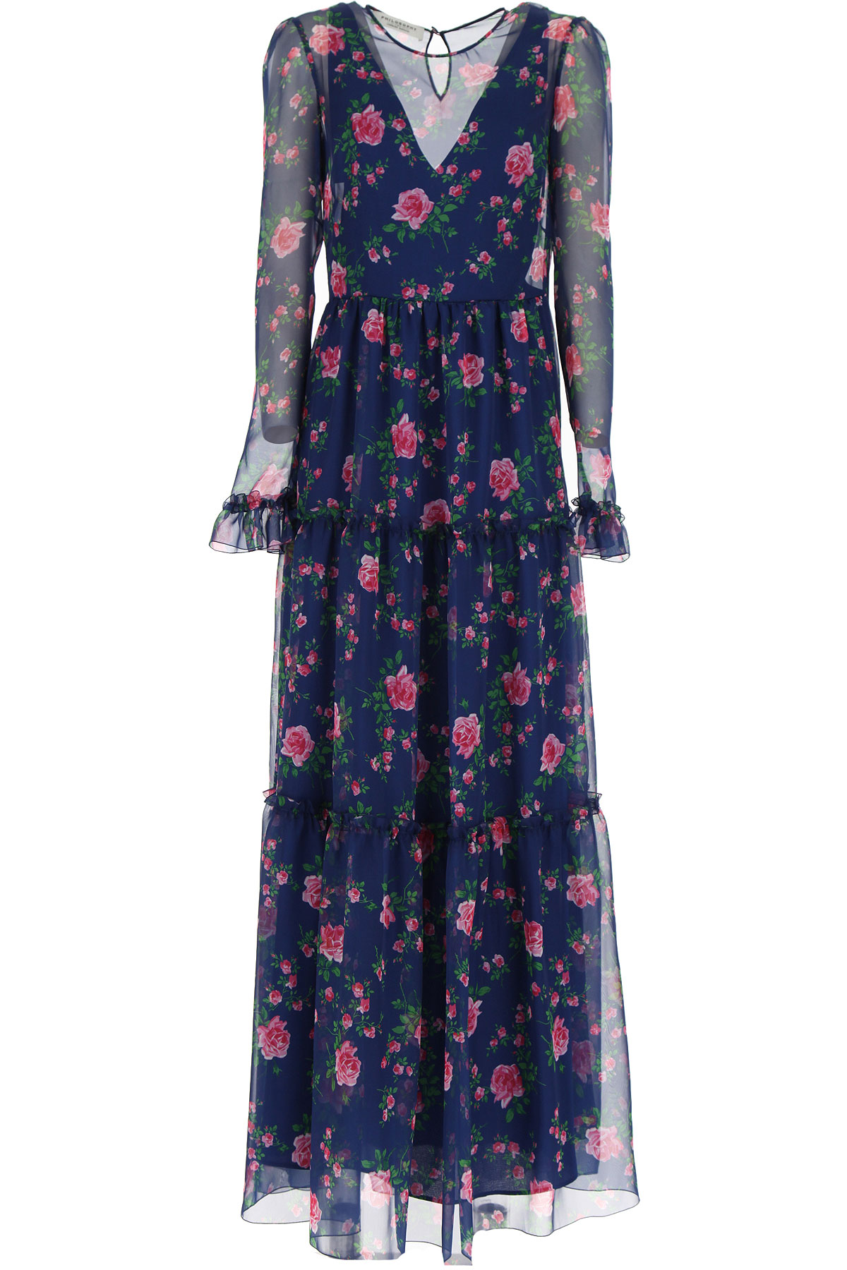 Philosophy di Lorenzo Serafini Dress for Women, Evening Cocktail Party On Sale, Blue, polyester, 2019, 4 6