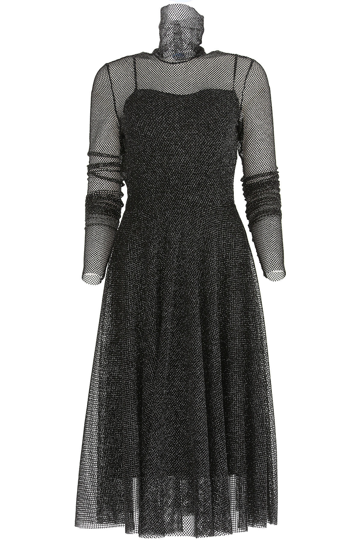 Image of Philosophy di Lorenzo Serafini Dress for Women, Evening Cocktail Party, Black, polyestere, 2017, 10 4 6 8