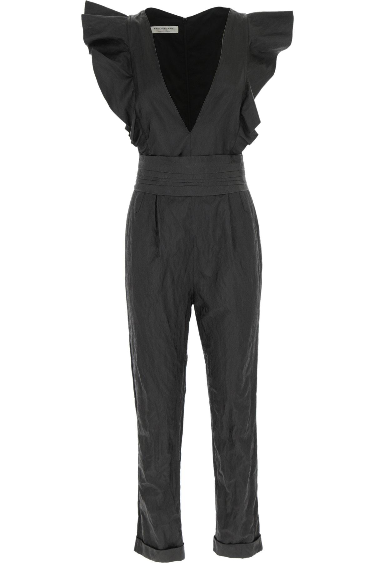 Philosophy di Lorenzo Serafini Dress for Women, Evening Cocktail Party On Sale, Black, viscosa, 2019, 2 4 6