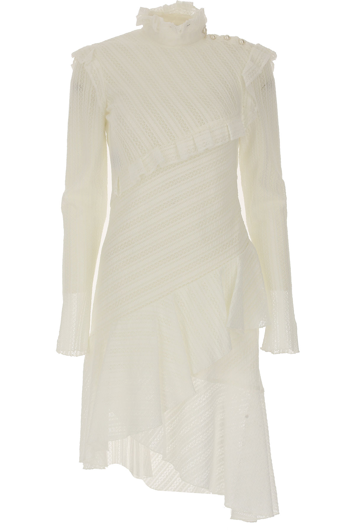 Image of Philosophy di Lorenzo Serafini Dress for Women, Evening Cocktail Party, White, Cotton, 2017, 4 6