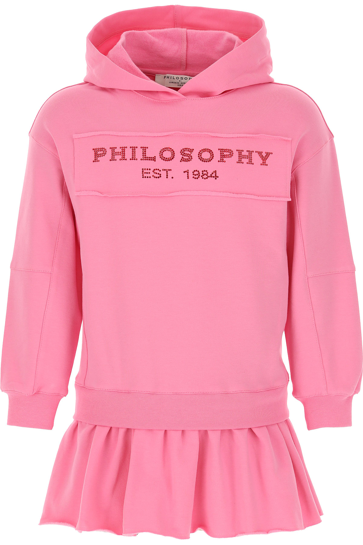 Philosophy di Lorenzo Serafini Girls Dress On Sale, Bubble Pink, Cotton, 2019, 10Y 6Y 8Y