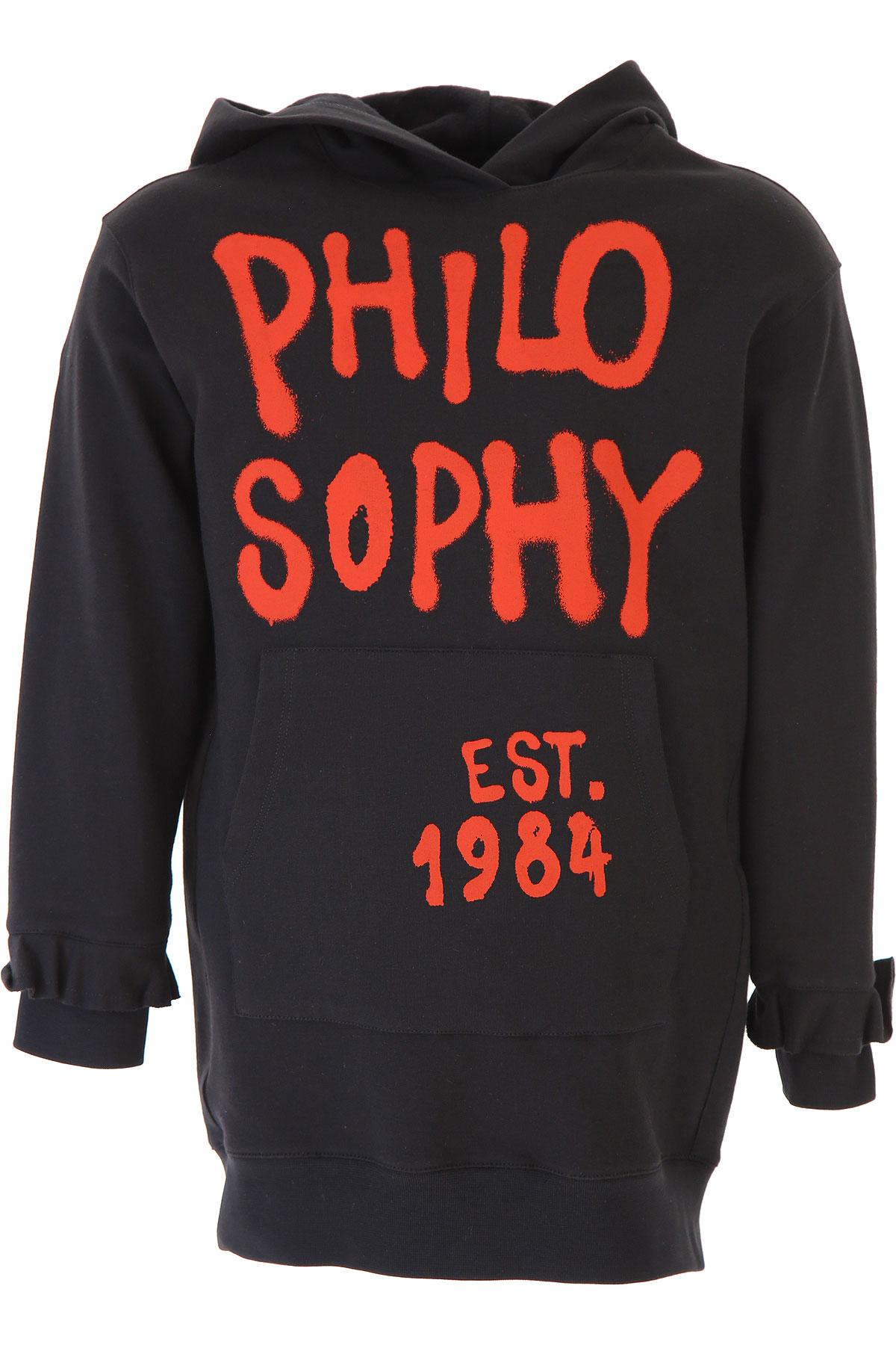 Philosophy di Lorenzo Serafini Girls Dress On Sale, Black, Cotton, 2019, L M S XL XS XXS