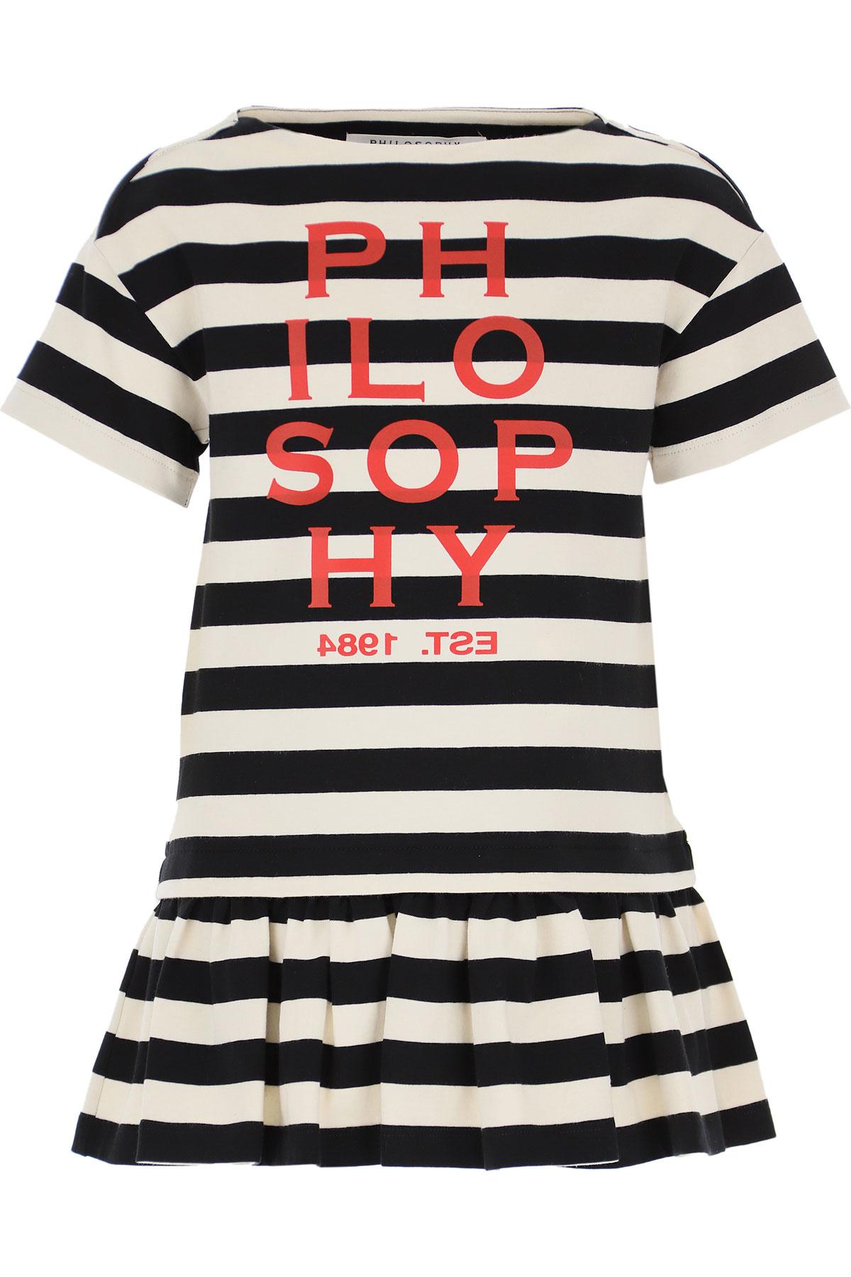 Philosophy di Lorenzo Serafini Girls Dress On Sale, Black, Cotton, 2019, L S XL XS