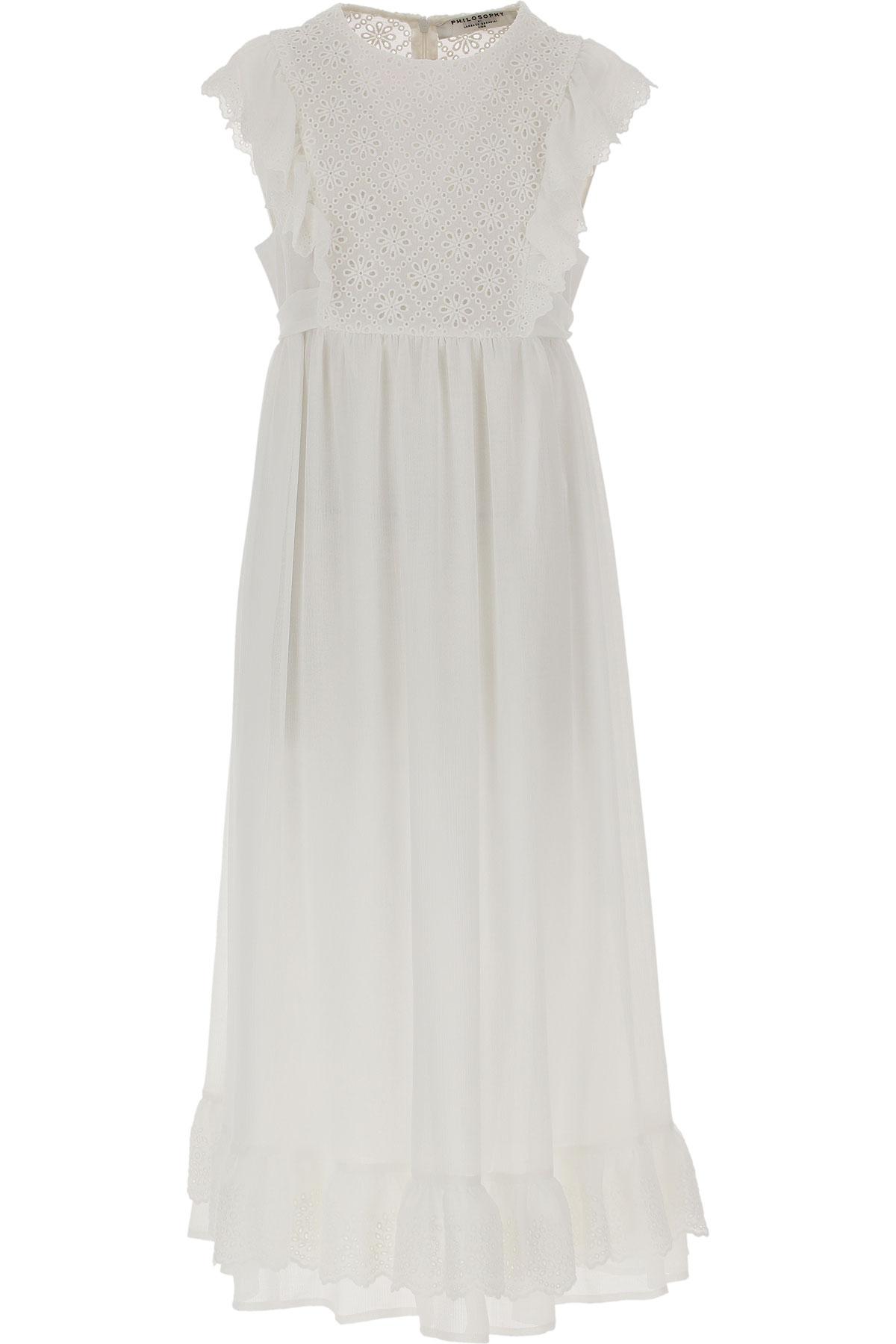 Philosophy di Lorenzo Serafini Girls Dress On Sale, White, polyester, 2019, L M XL