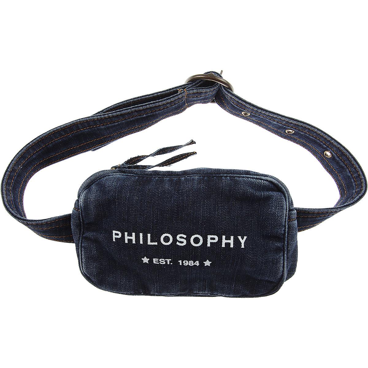 Philosophy di Lorenzo Serafini Girls Handbag On Sale in Outlet, Blue Denim, Cotton, 2019