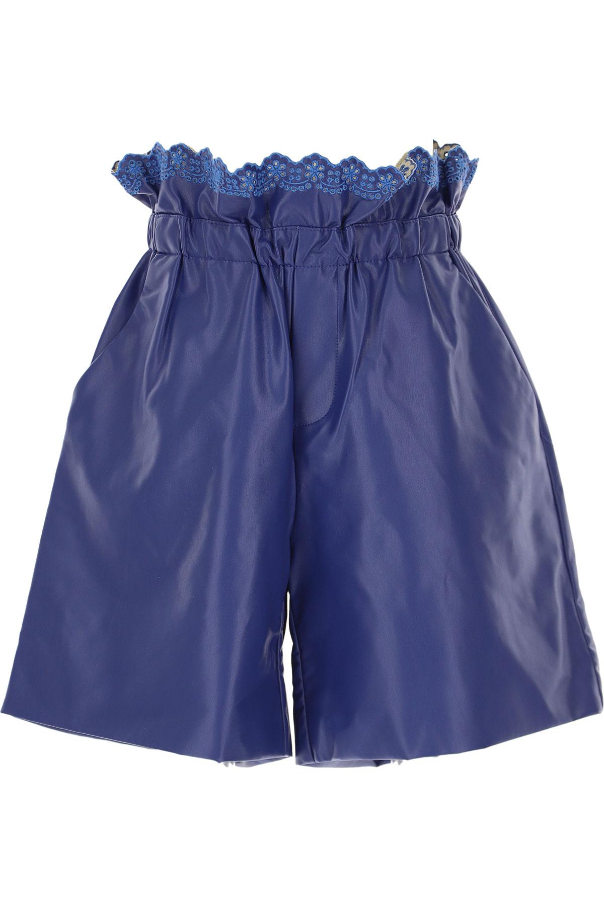 Philosophy di Lorenzo Serafini Kids Shorts for Girls On Sale, Royal Blue, polyurethane, 2019, M XL XS