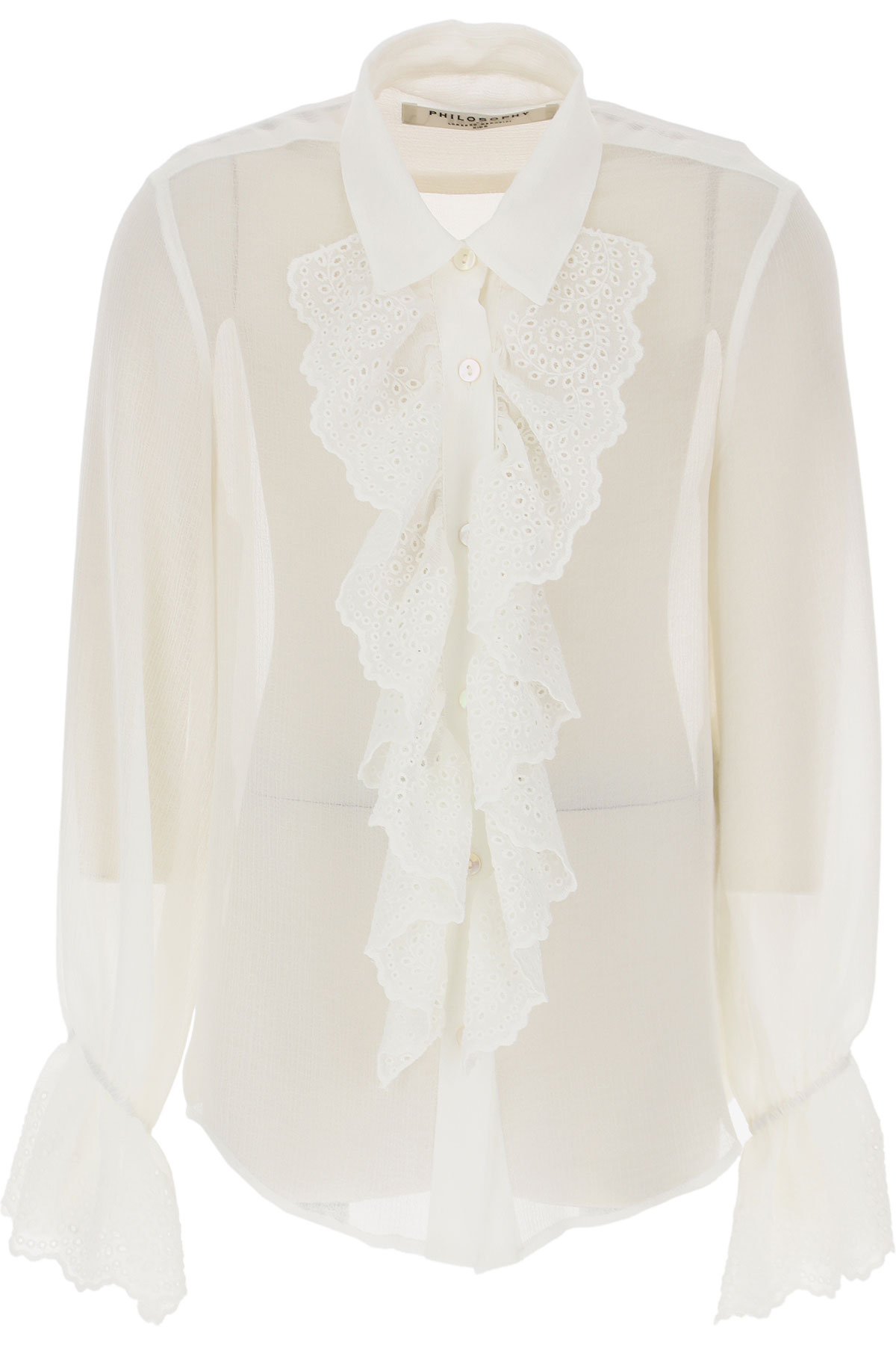 Philosophy di Lorenzo Serafini Kids Shirts for Girls On Sale, White, polyester, 2019, L M S XL
