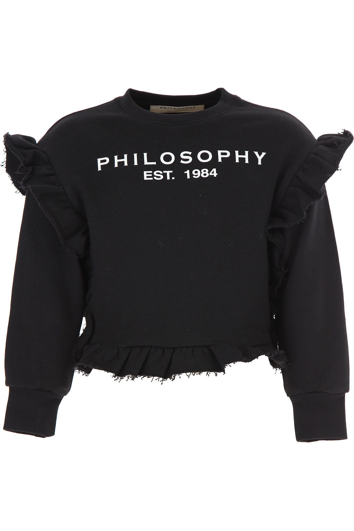Philosophy di Lorenzo Serafini Kids Sweatshirts & Hoodies for Girls On Sale, Black, Cotton, 2019, 10Y 12Y 6Y 8Y