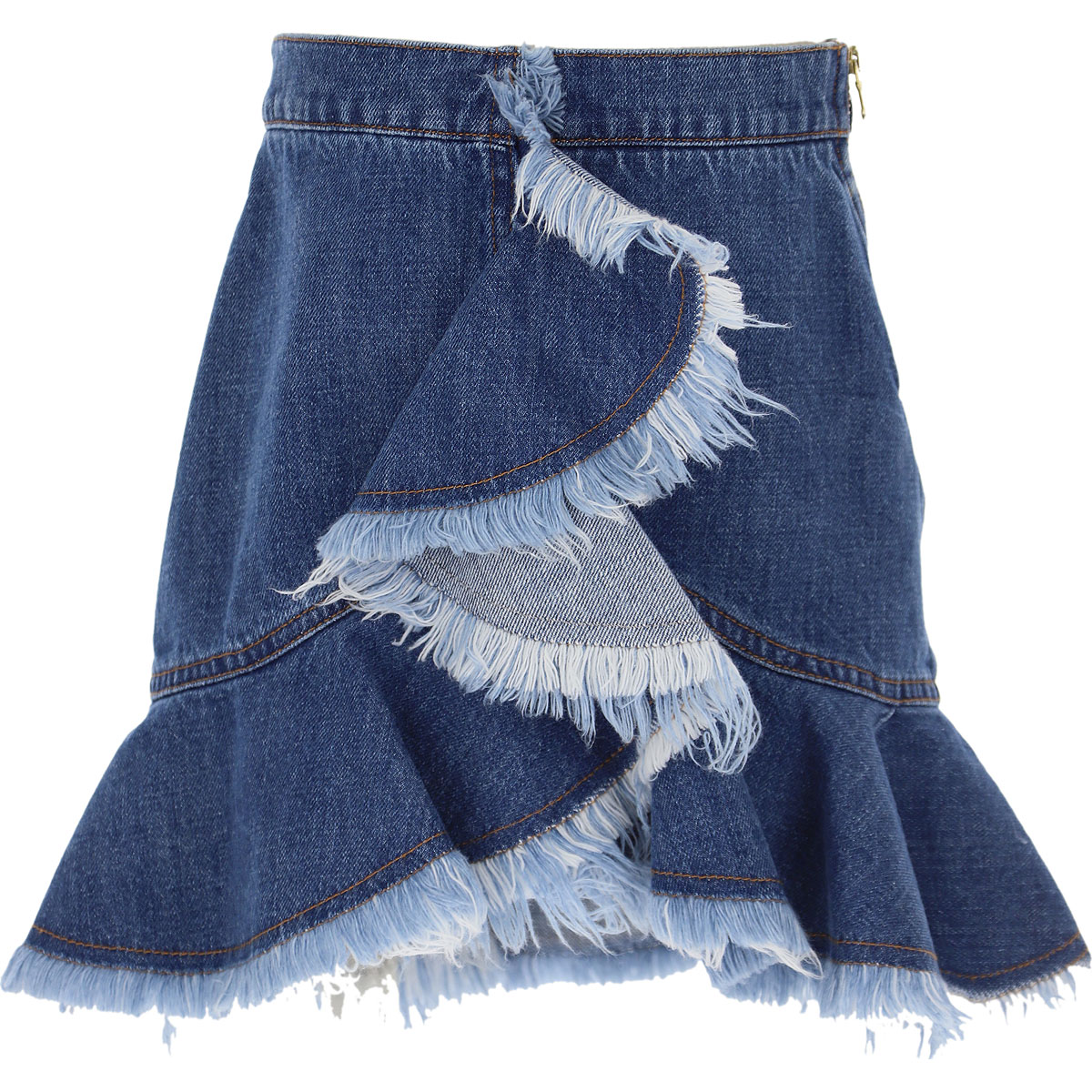 Philosophy di Lorenzo Serafini Kids Skirts for Girls On Sale, Blue Denim, Cotton, 2019, L XS XXS