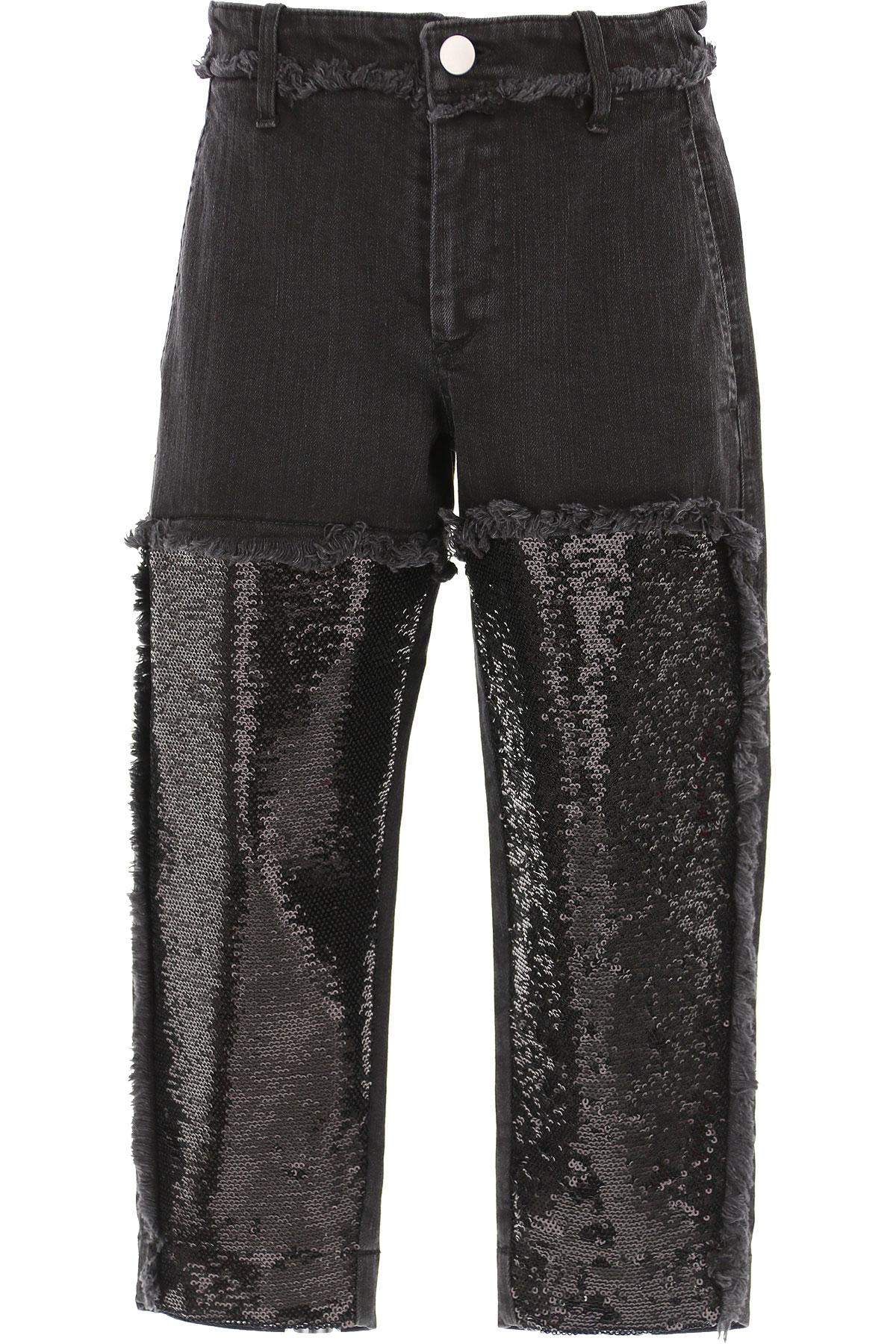 Philosophy di Lorenzo Serafini Kids Jeans for Girls On Sale, Black, Cotton, 2019, L M S XL XS XXS