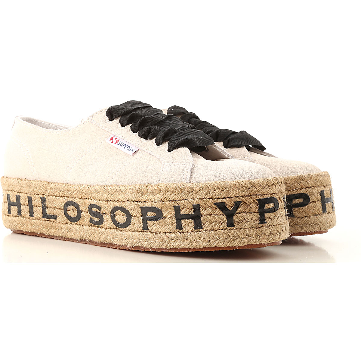 Philosophy di Lorenzo Serafini Sneaker Femme, Crème, Daim, 2017, 36 37 38 39 40 41