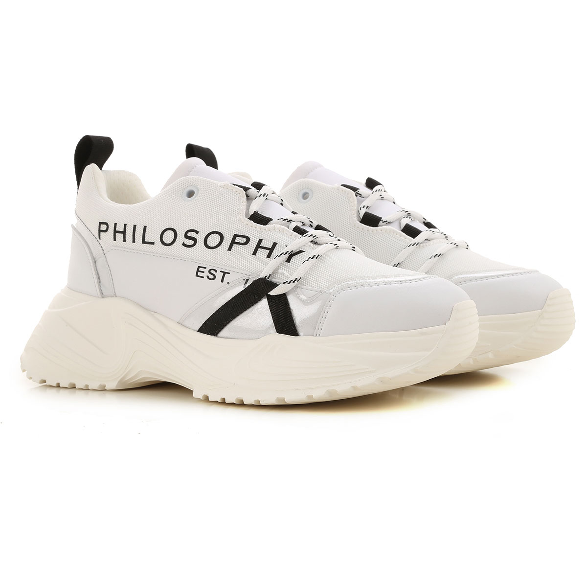 Philosophy di Lorenzo Serafini Sneaker Femme, Blanc, Tissu, 2019, 36 38 40