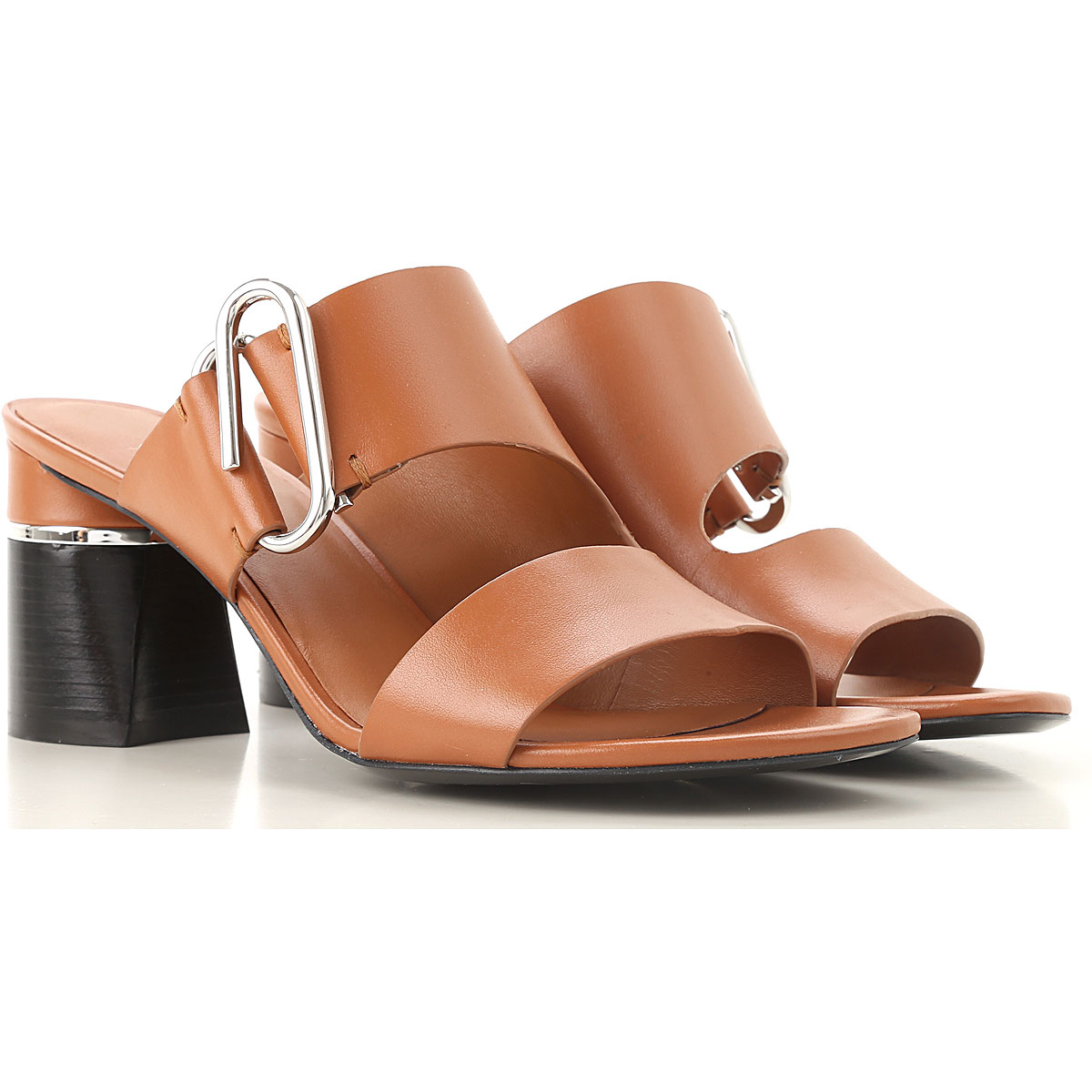 Phillip Lim Sandals for Women, Leather Brown, Leather, 2017, 10 6 7 8 9
